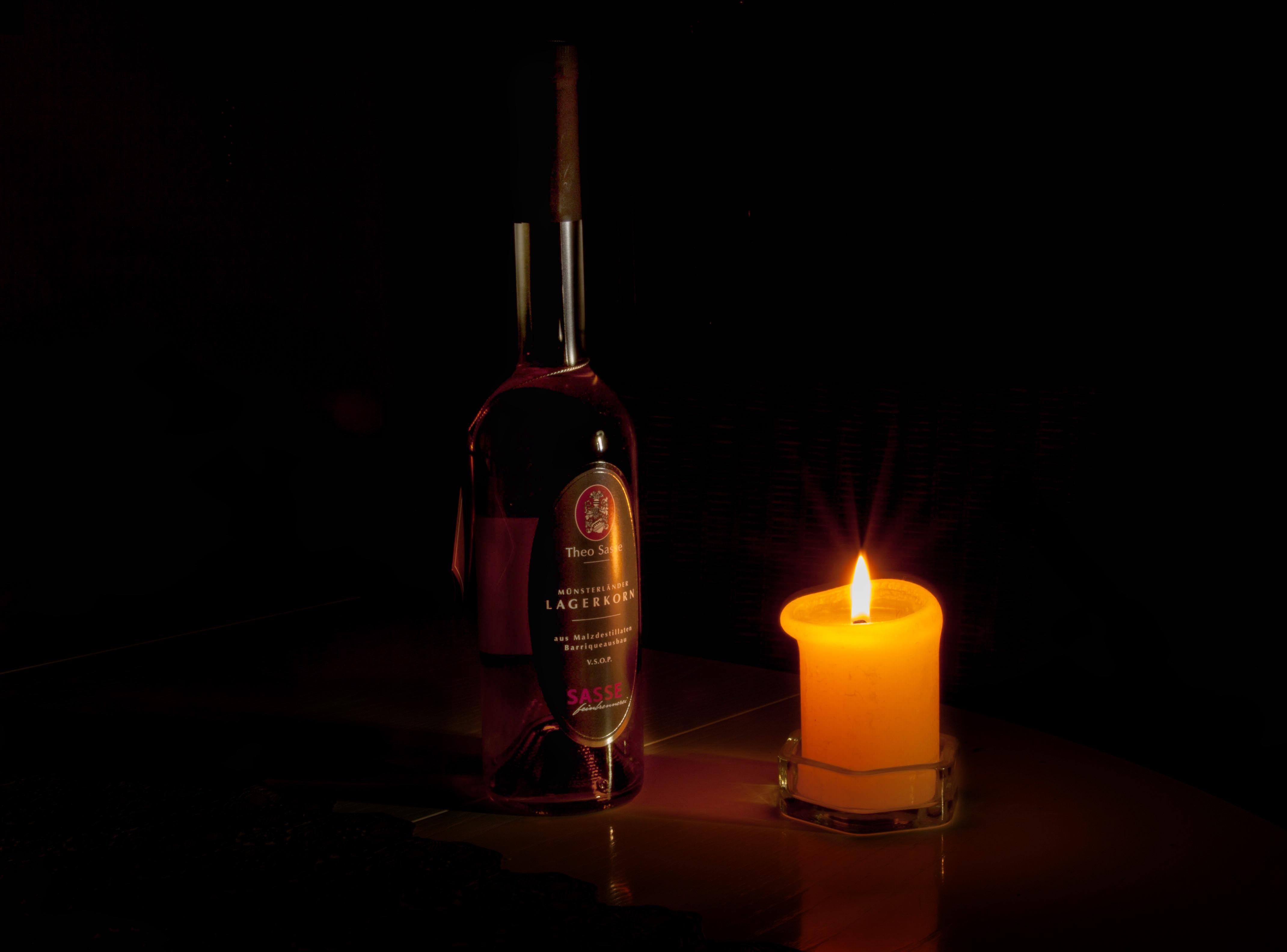 kostenlose foto romantisch dunkelheit kerze
