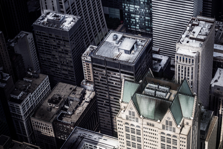 Rooftop Building City Skyscraper Cityscape Downtown Aerial Top View Image Metropolis Screenshot Urban Area