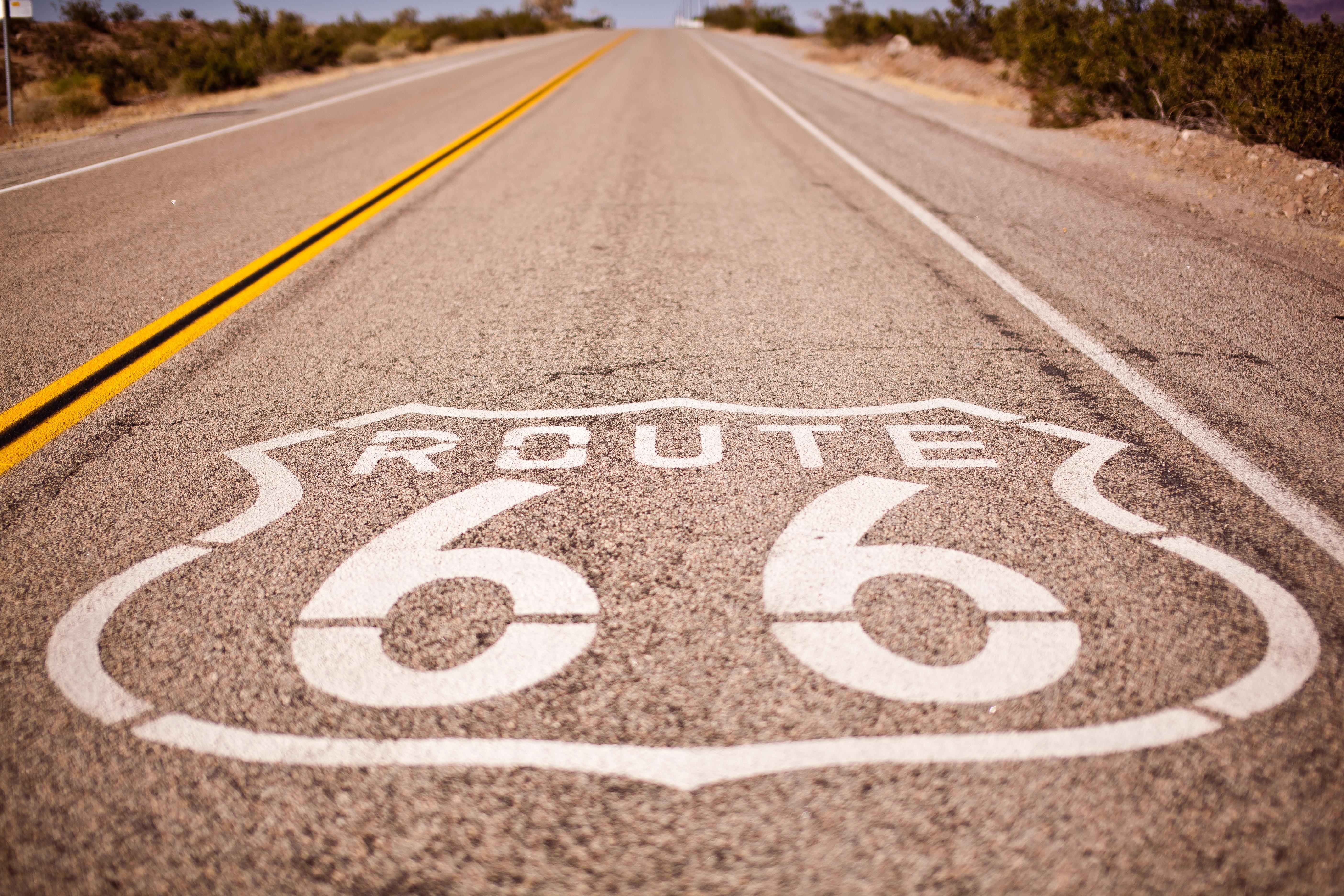 sand road desert asphalt travel line usa