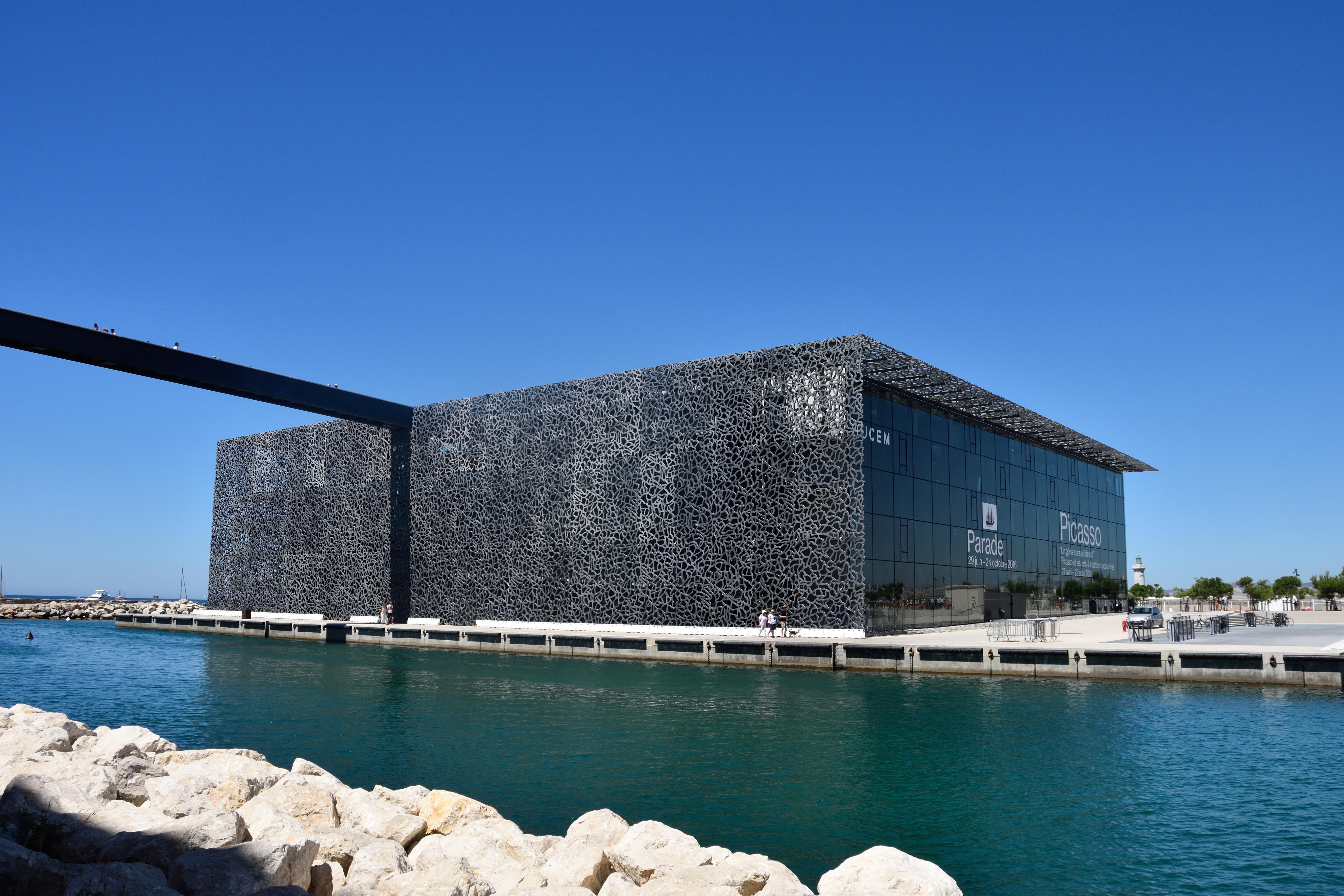 free images sea france mediterranean museum landmark modern architecture marseille. Black Bedroom Furniture Sets. Home Design Ideas