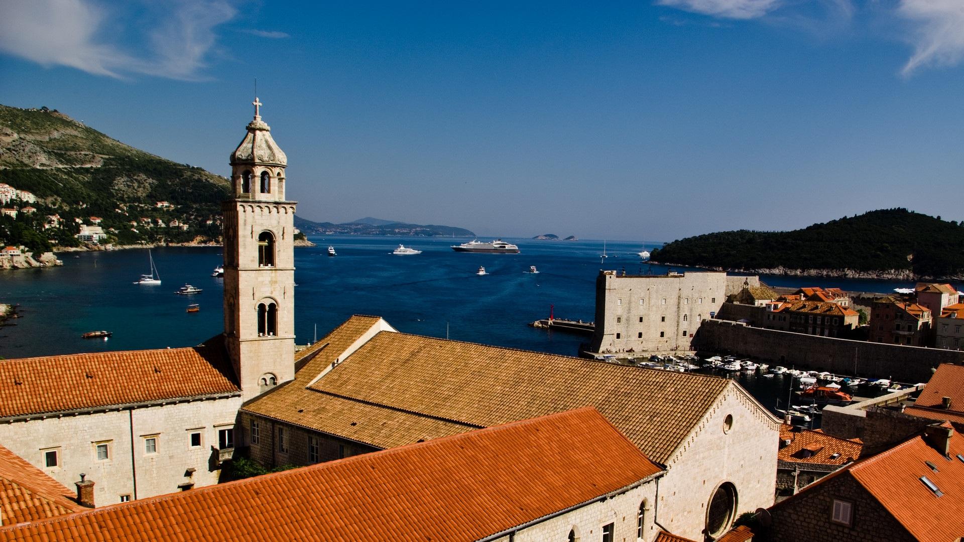 Обои Dubrovnik, здания, остров, дома, croatia, хорватия, адриатическое море, adriatic sea. Города foto 13