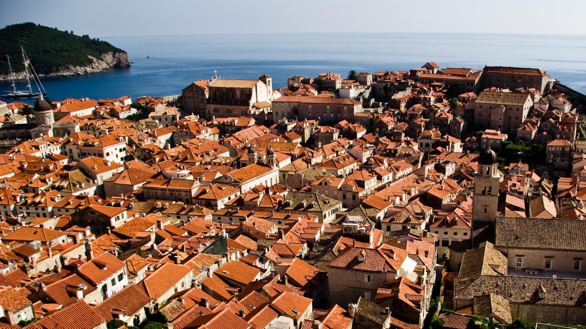 Обои Dubrovnik, здания, остров, дома, croatia, хорватия, адриатическое море, adriatic sea. Города foto 11