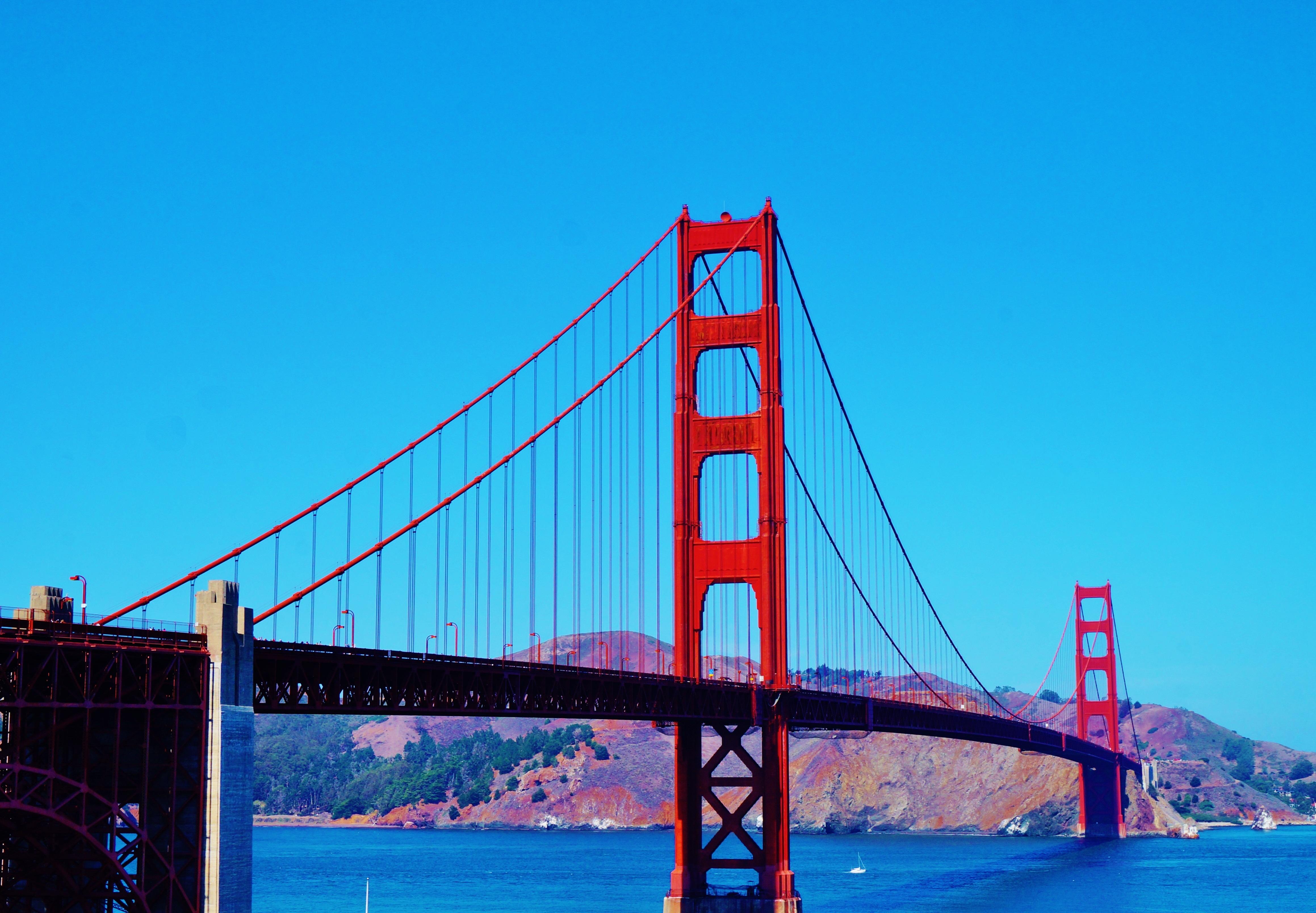 Sea Bridge Suspension Bridge Golden Usa America Landmark Gate California San Ca Francisco Pacific Ocean Cable Stayed Bridge San Francisco Bay Nonbuilding Structure
