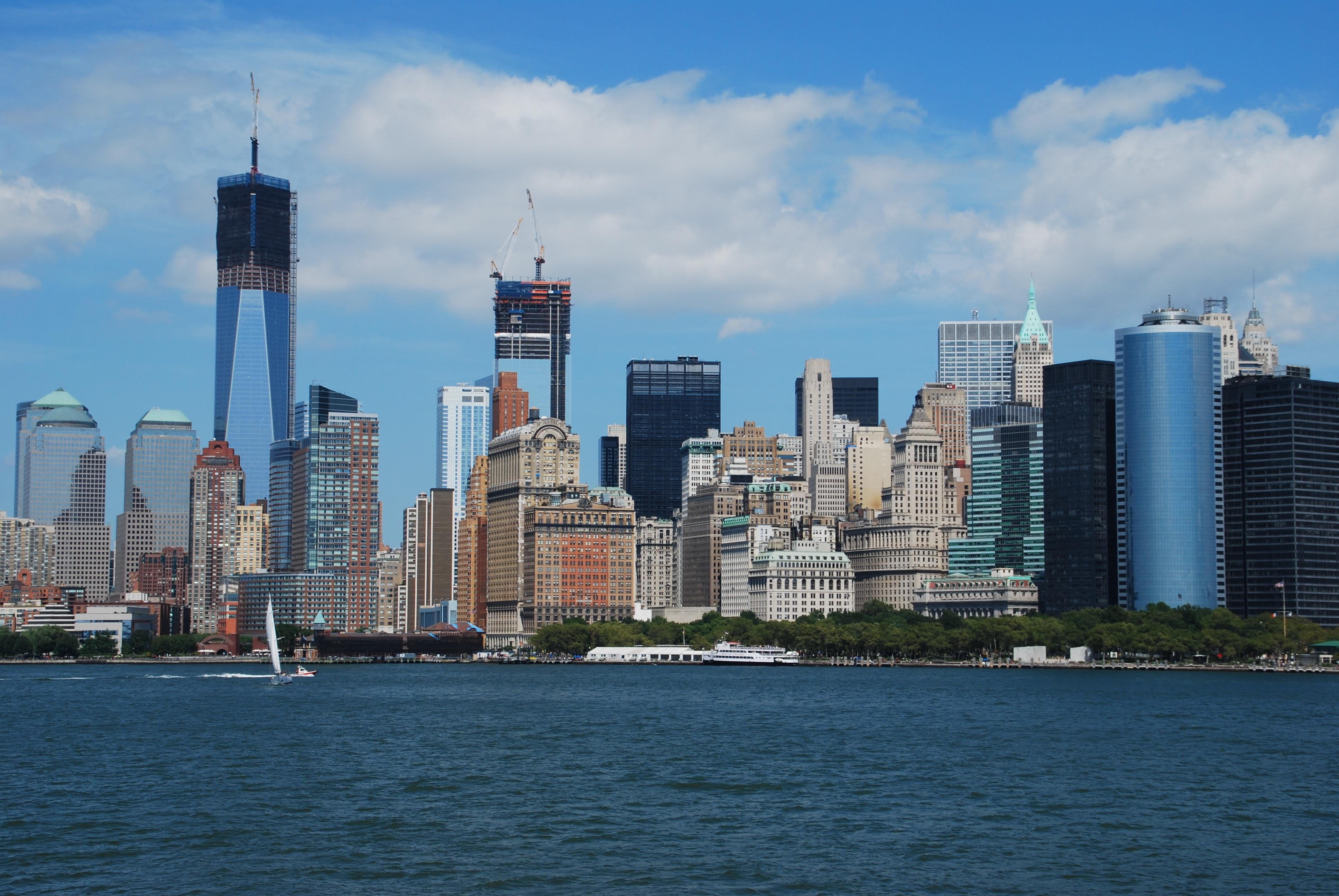 fotos gratis mar costa horizonte rascacielos nueva york manhattan paisaje urbano centro de la ciudad vehculo torre baha