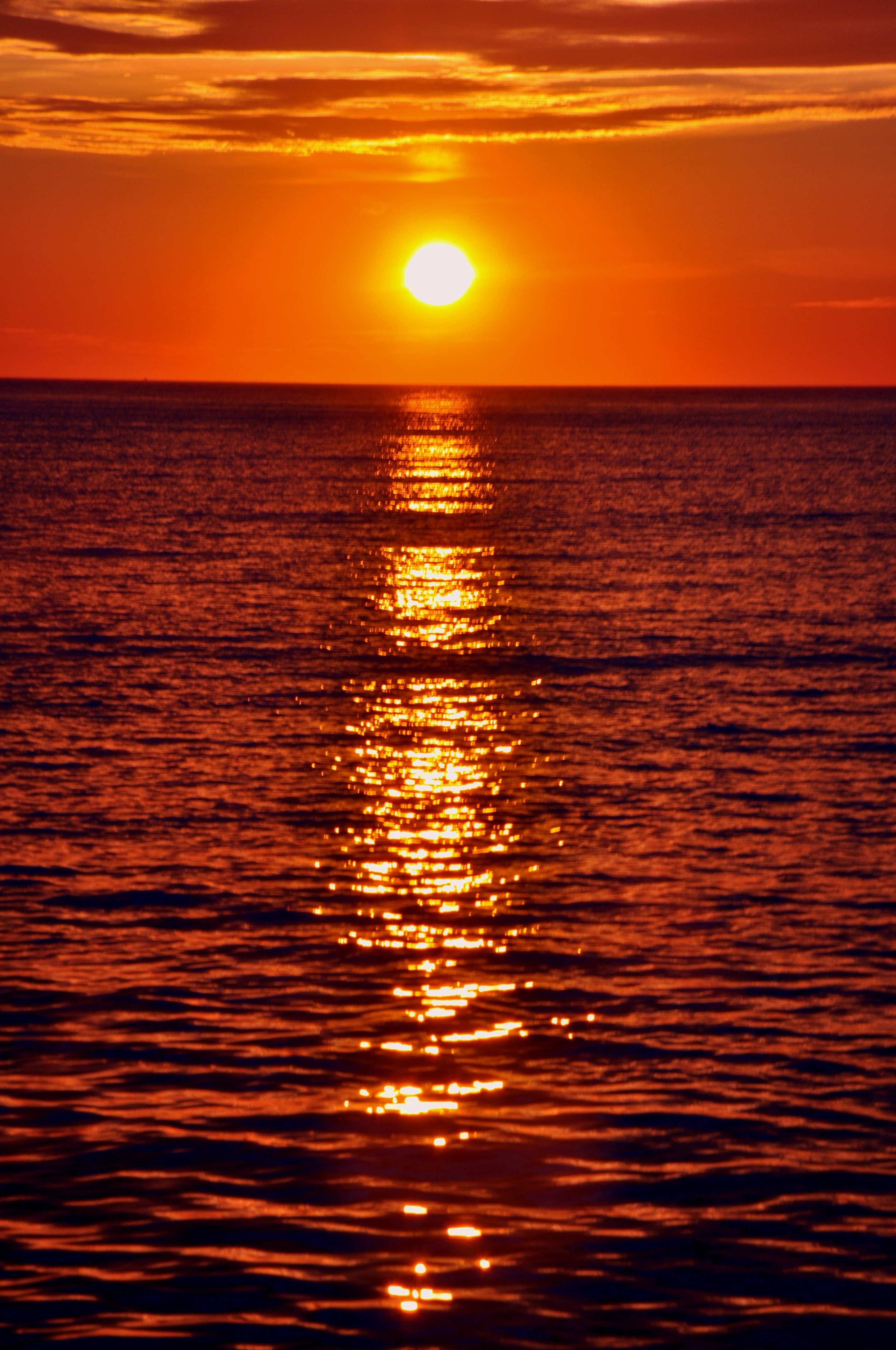 закат солнца на море фото