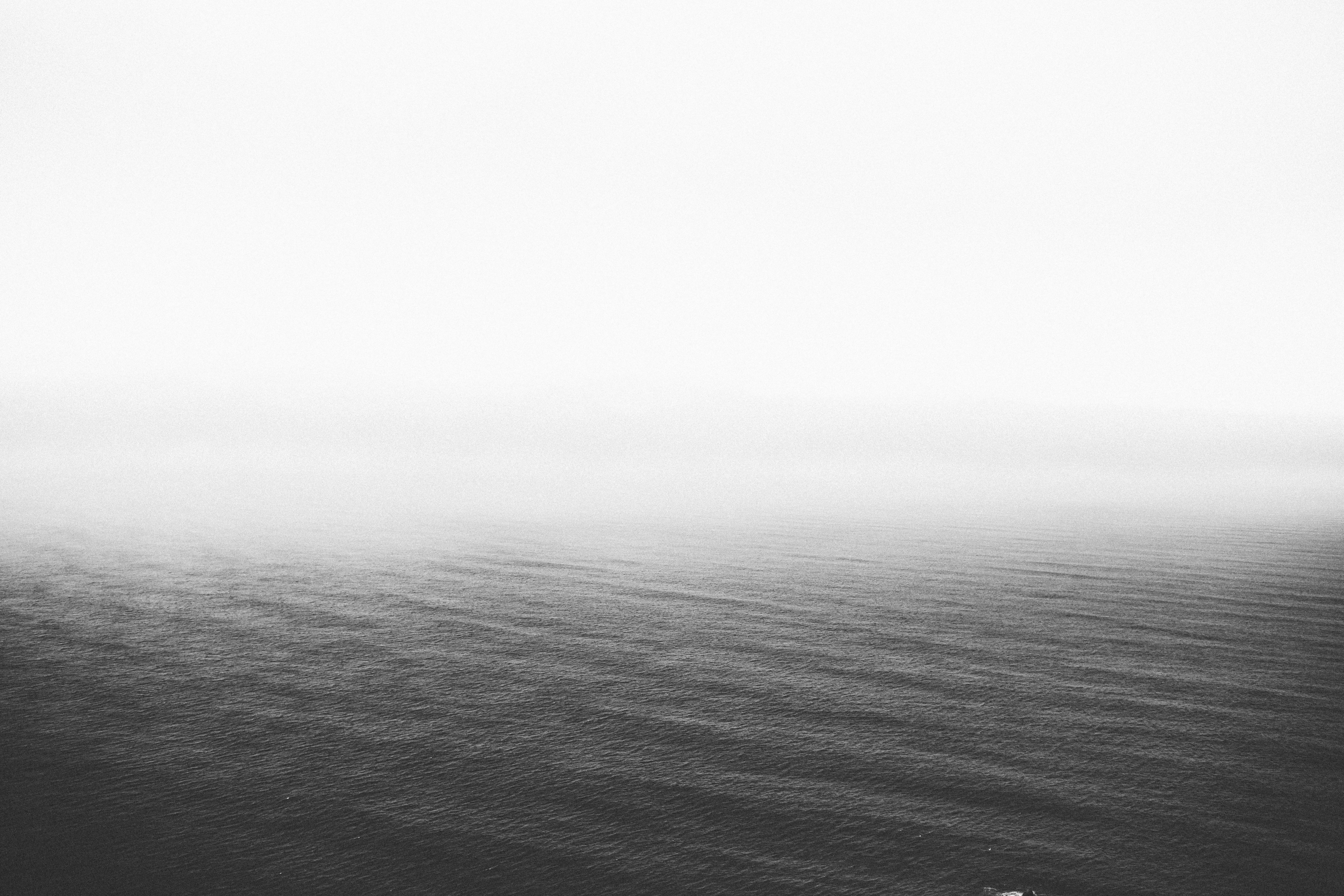 free images sea coast ocean horizon cloud black and white fog mist morning wave dawn. Black Bedroom Furniture Sets. Home Design Ideas