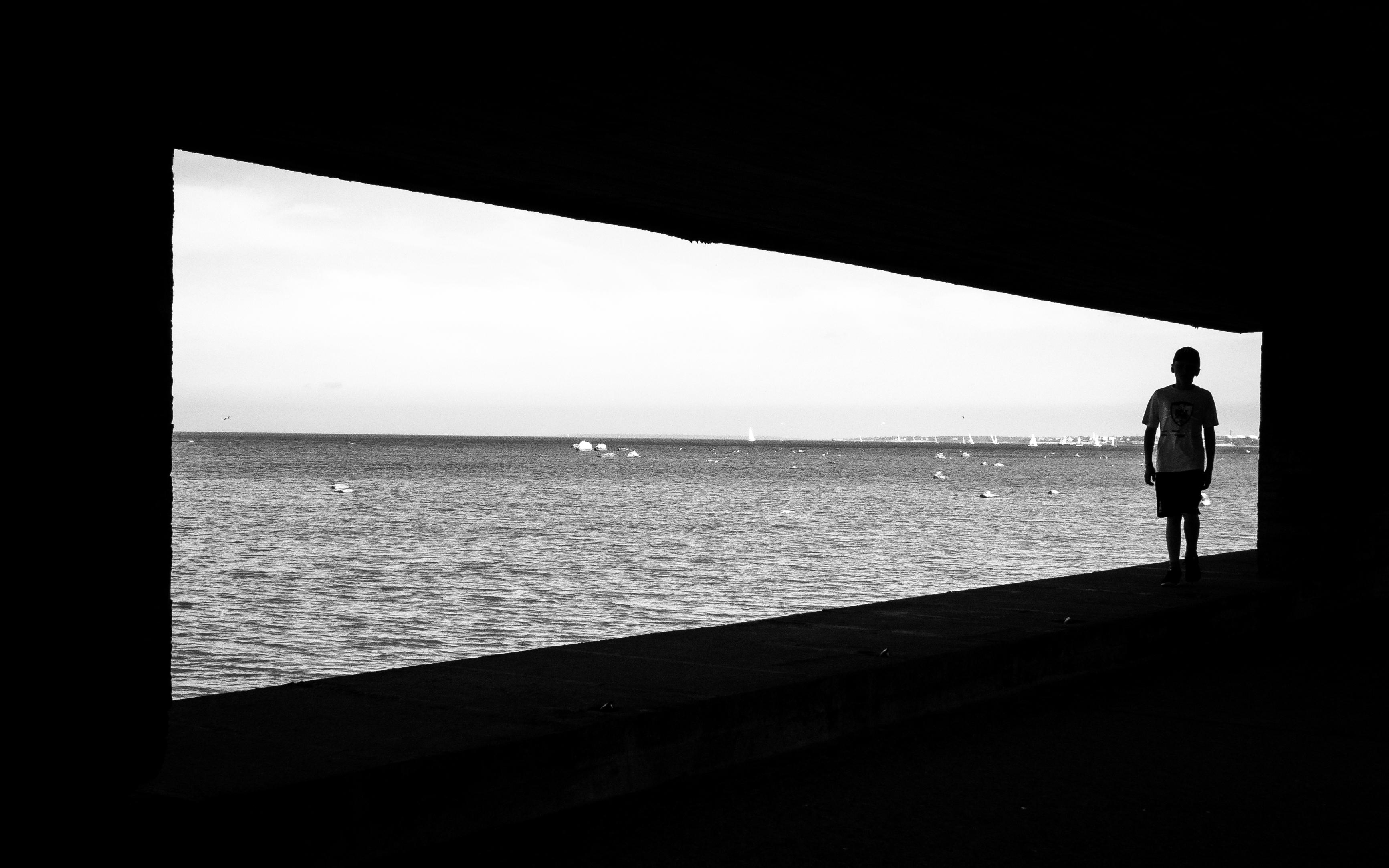 Fotos gratis : mar, costa, Oceano, horizonte, silueta, ligero, en ...