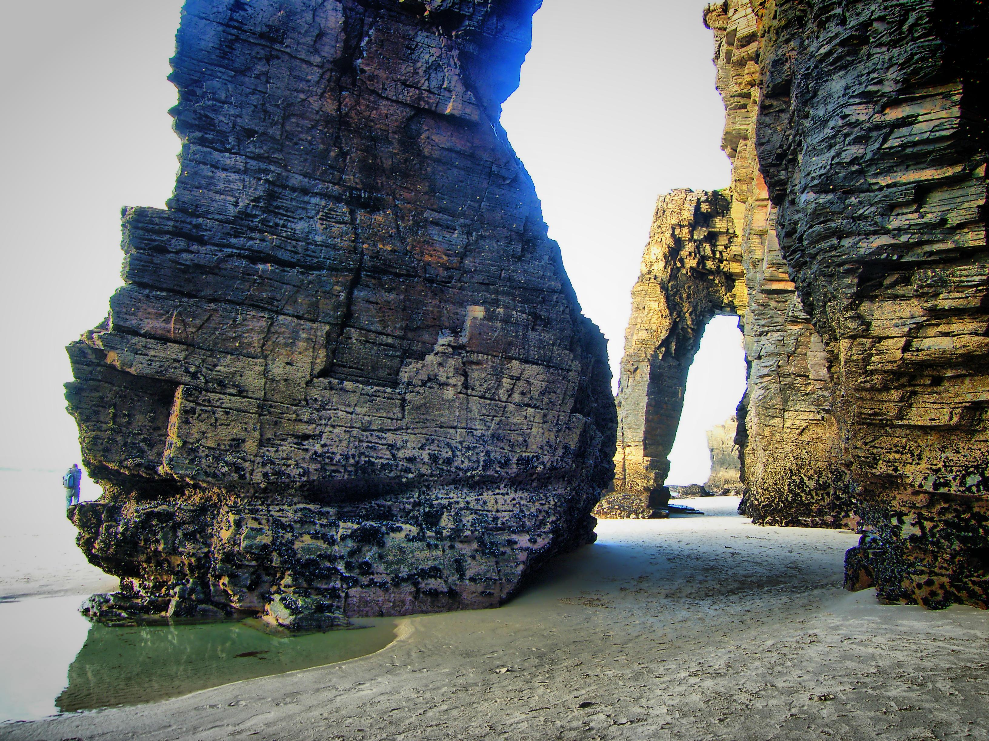 playa de las catedrales geologia