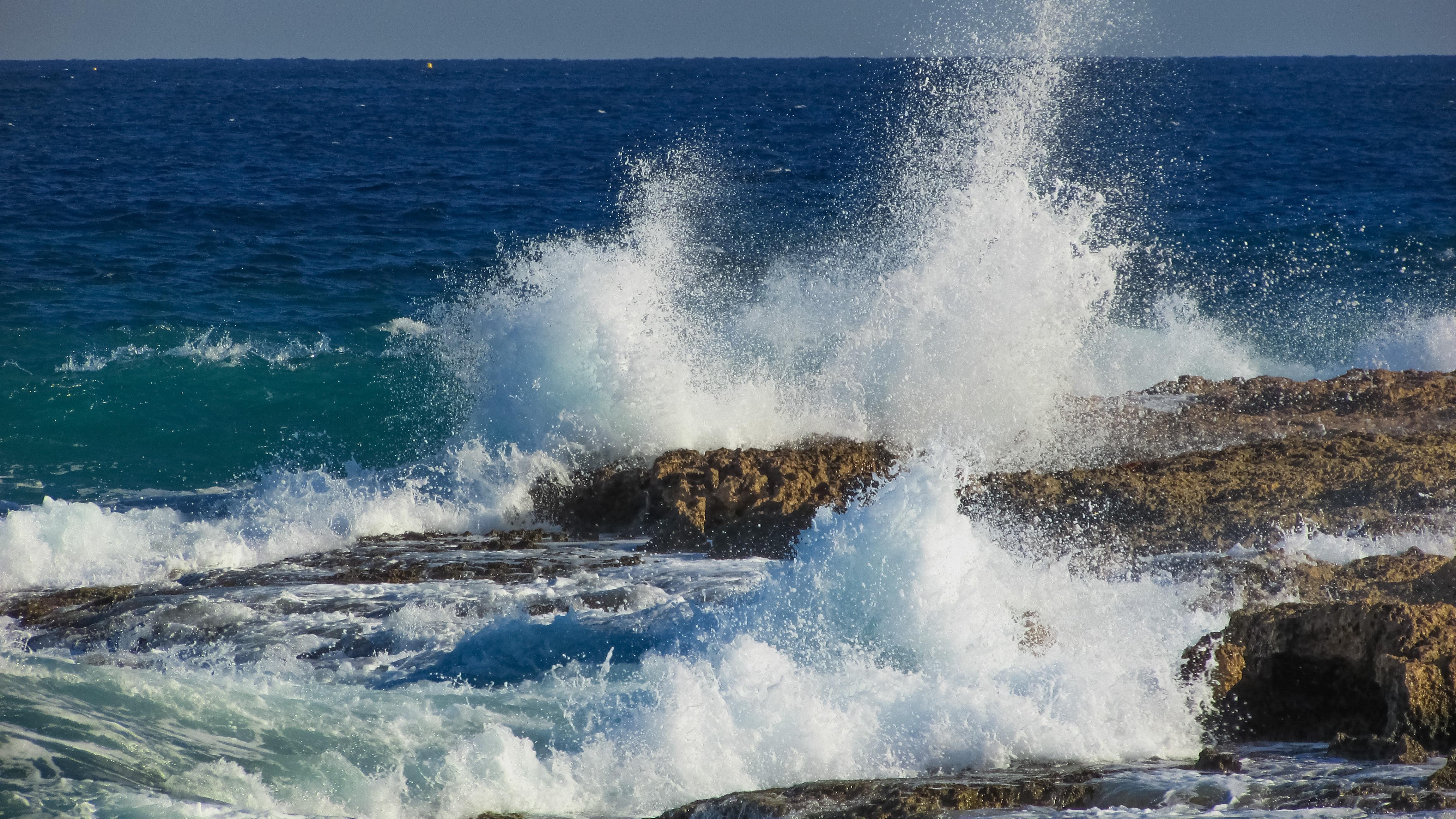 Gambar Laut Alam Batu Lautan Putih Gelombang Angin