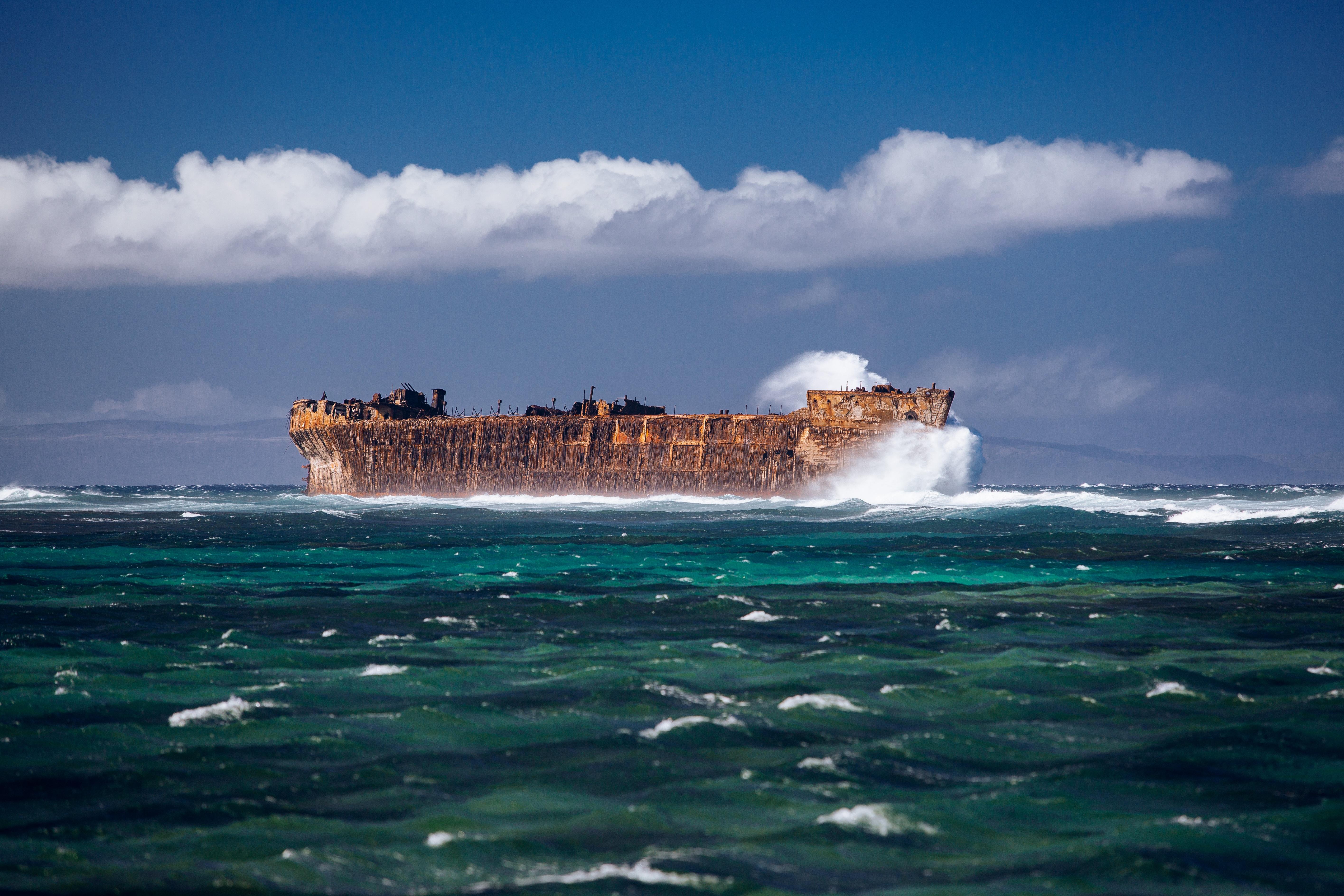 фото море волна корабль окончательный
