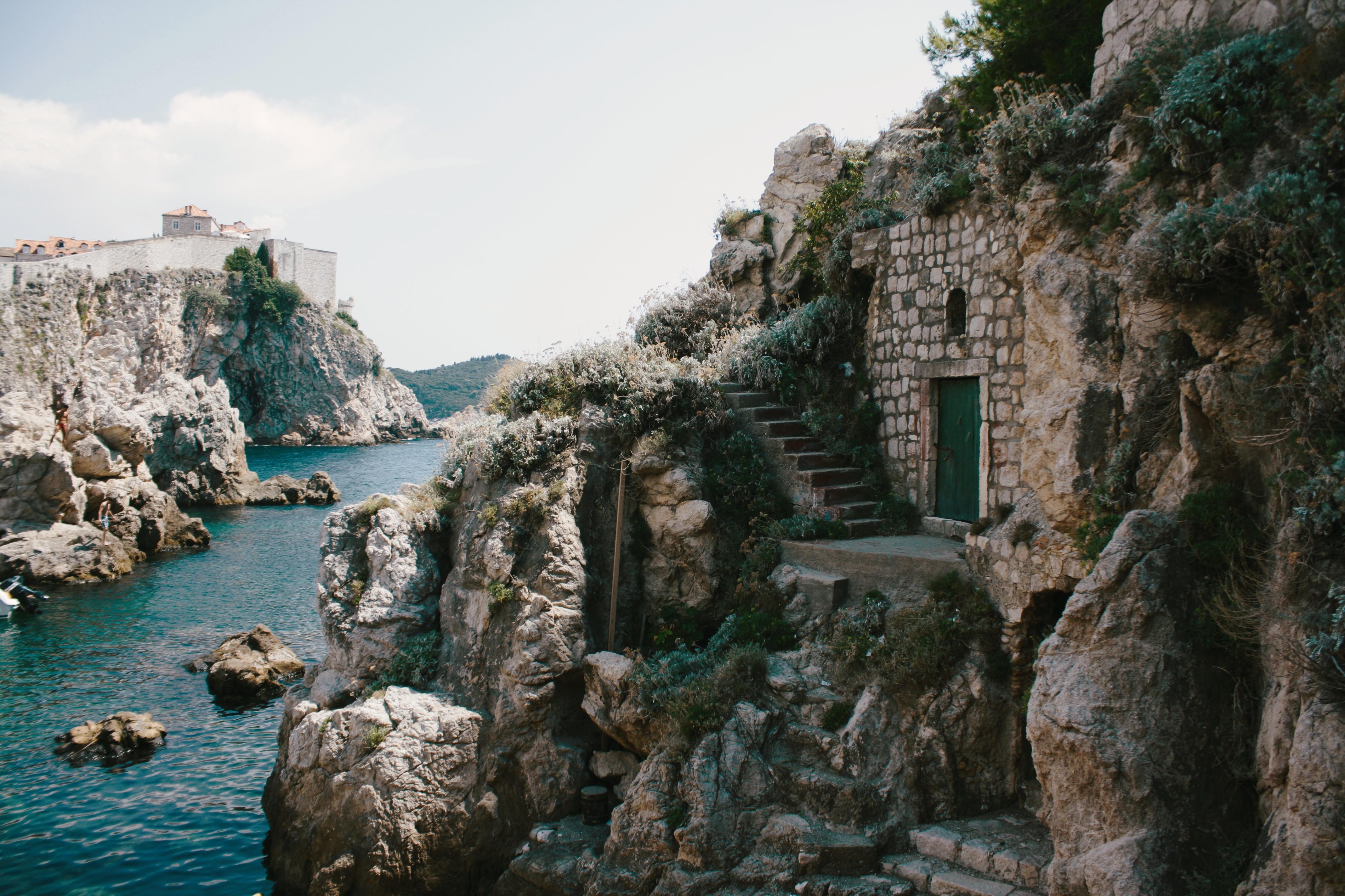 Rental Car Places >> Free Images : sea, coast, water, rock, cloud, steps, vacation, travel, cliff, landmark, tourism ...