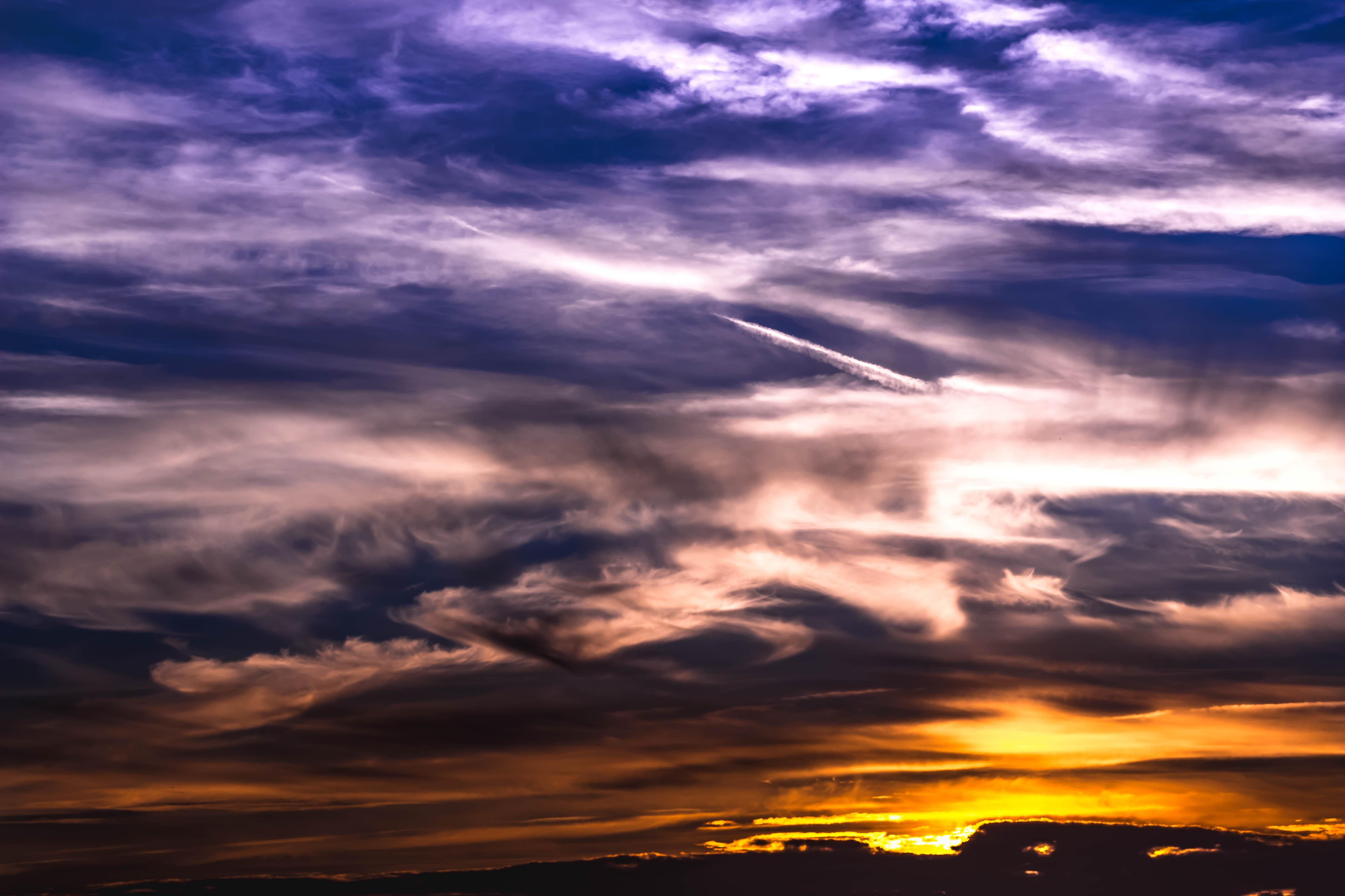 ... Cumulus, Romance, Romantic, Farbenspiel, Mood, Abendstimmung,  Atmospheric, Afterglow, Evening Sky, Dark Clouds, Clouds Form, Covered Sky,  Impressive, ...
