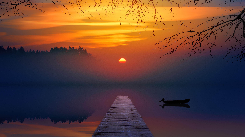Картинки закат утром или вечером