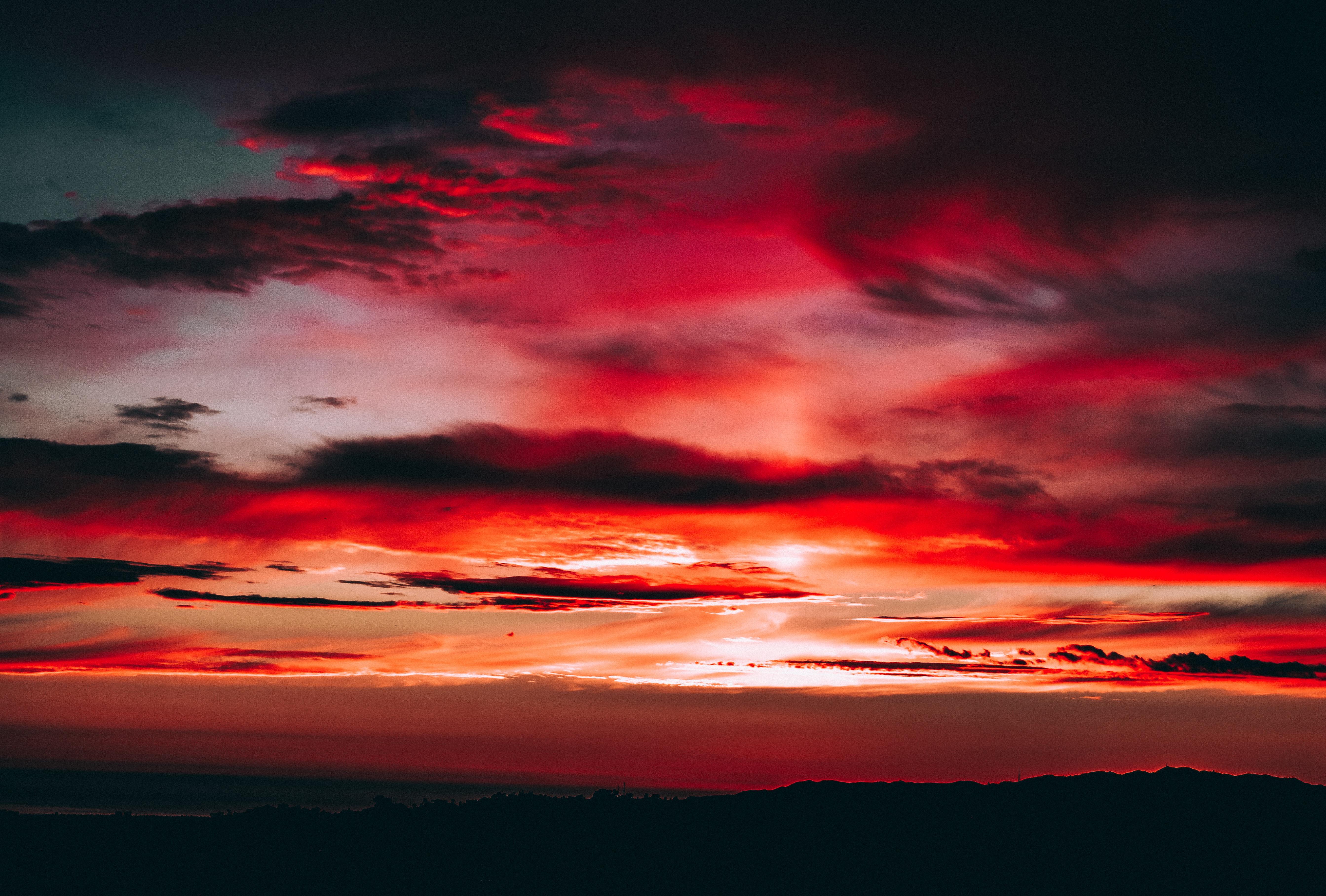 Картинки красного неба