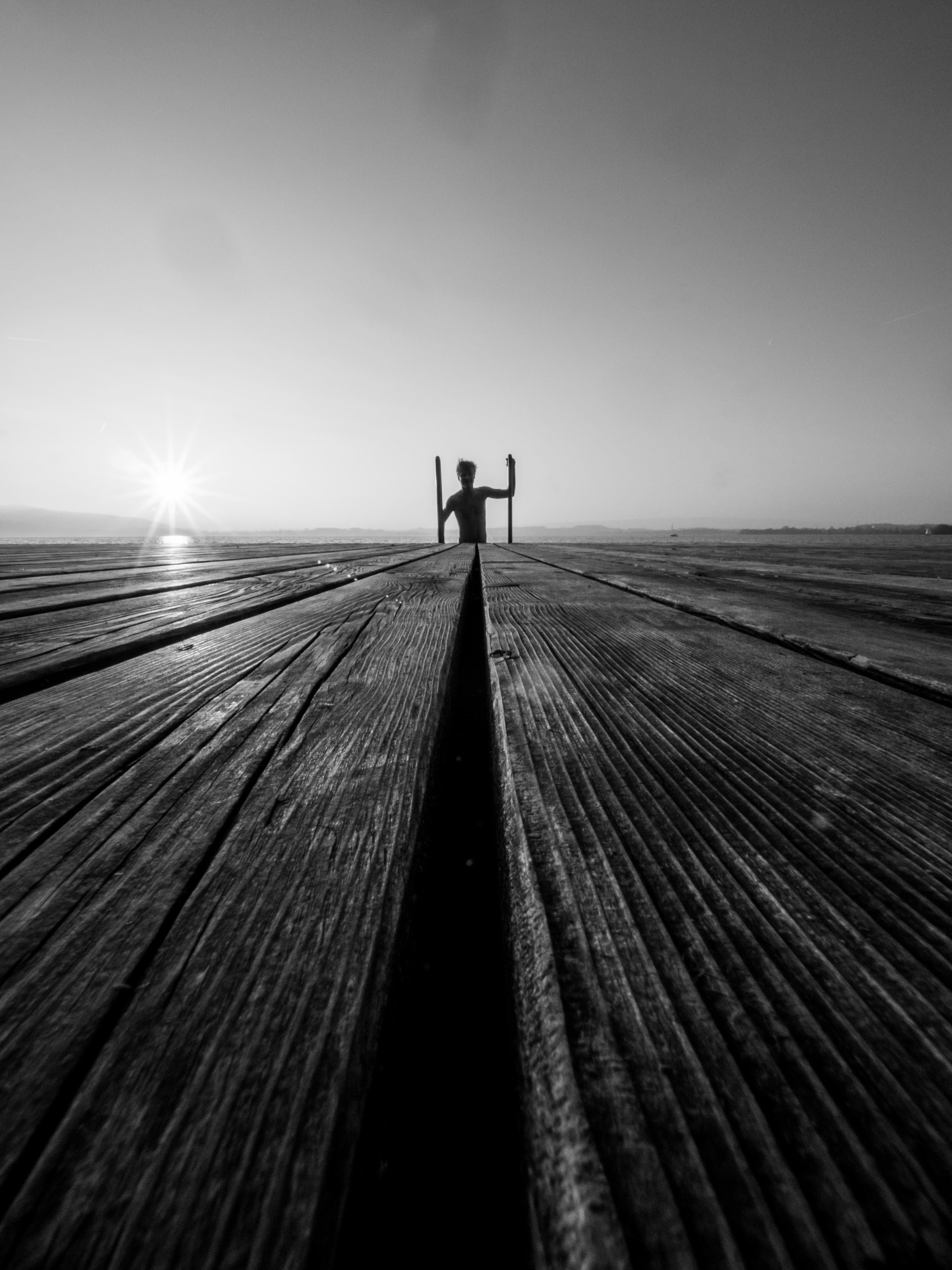 Черно белые восходы картинки