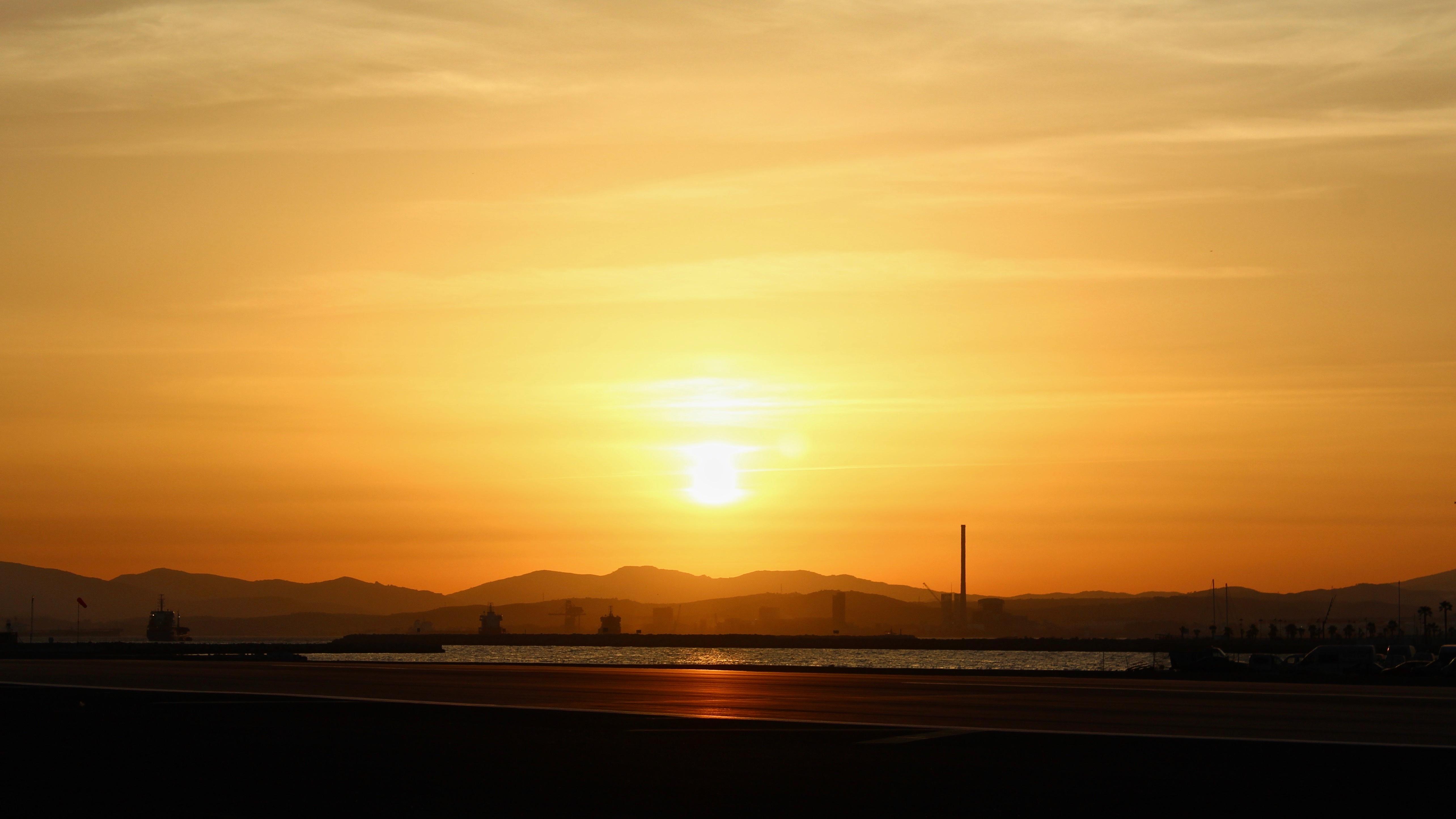 Free Images : sea, horizon, sun, sunrise, sunset, sunlight ...