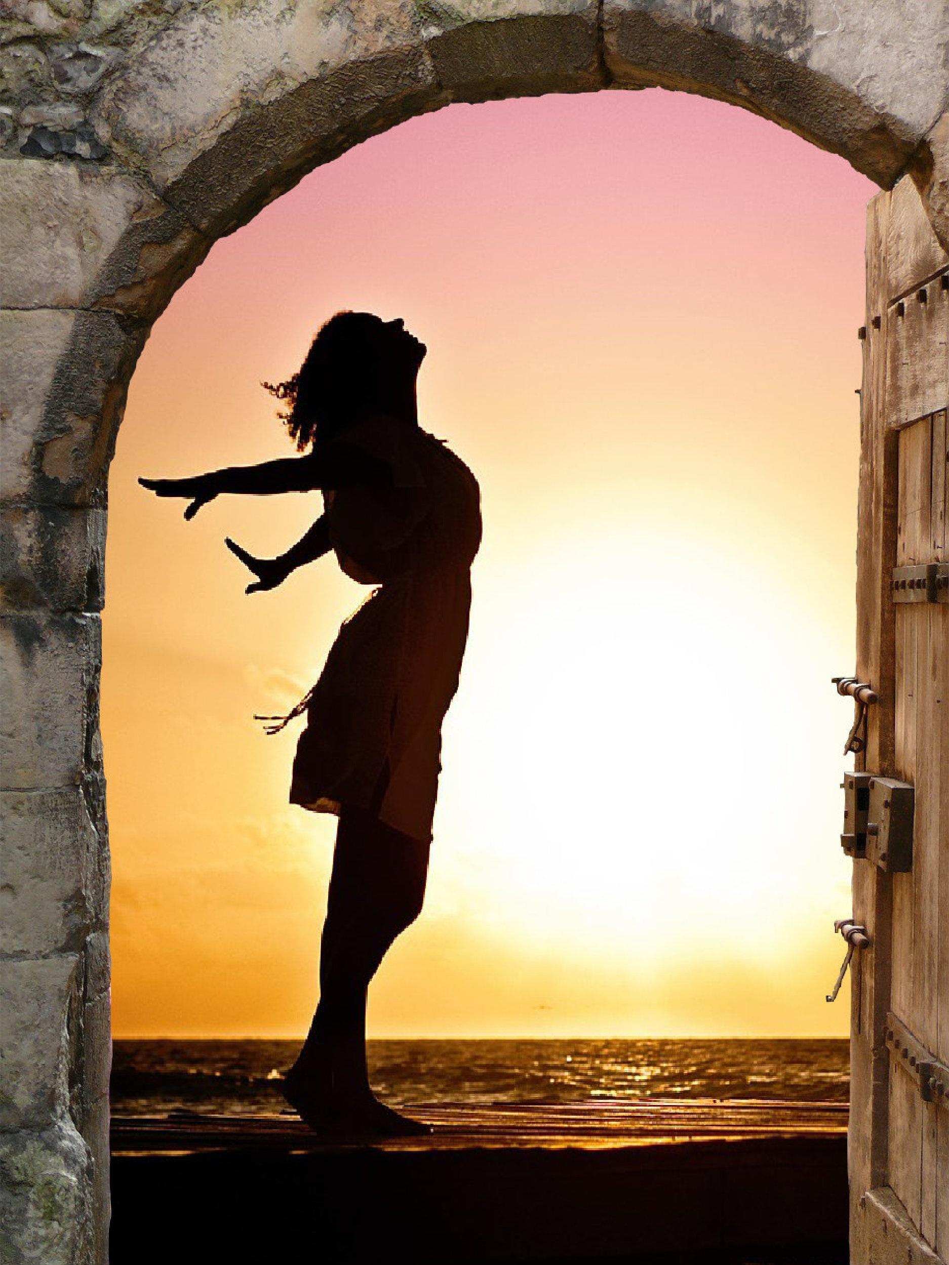 Свобода море девушка