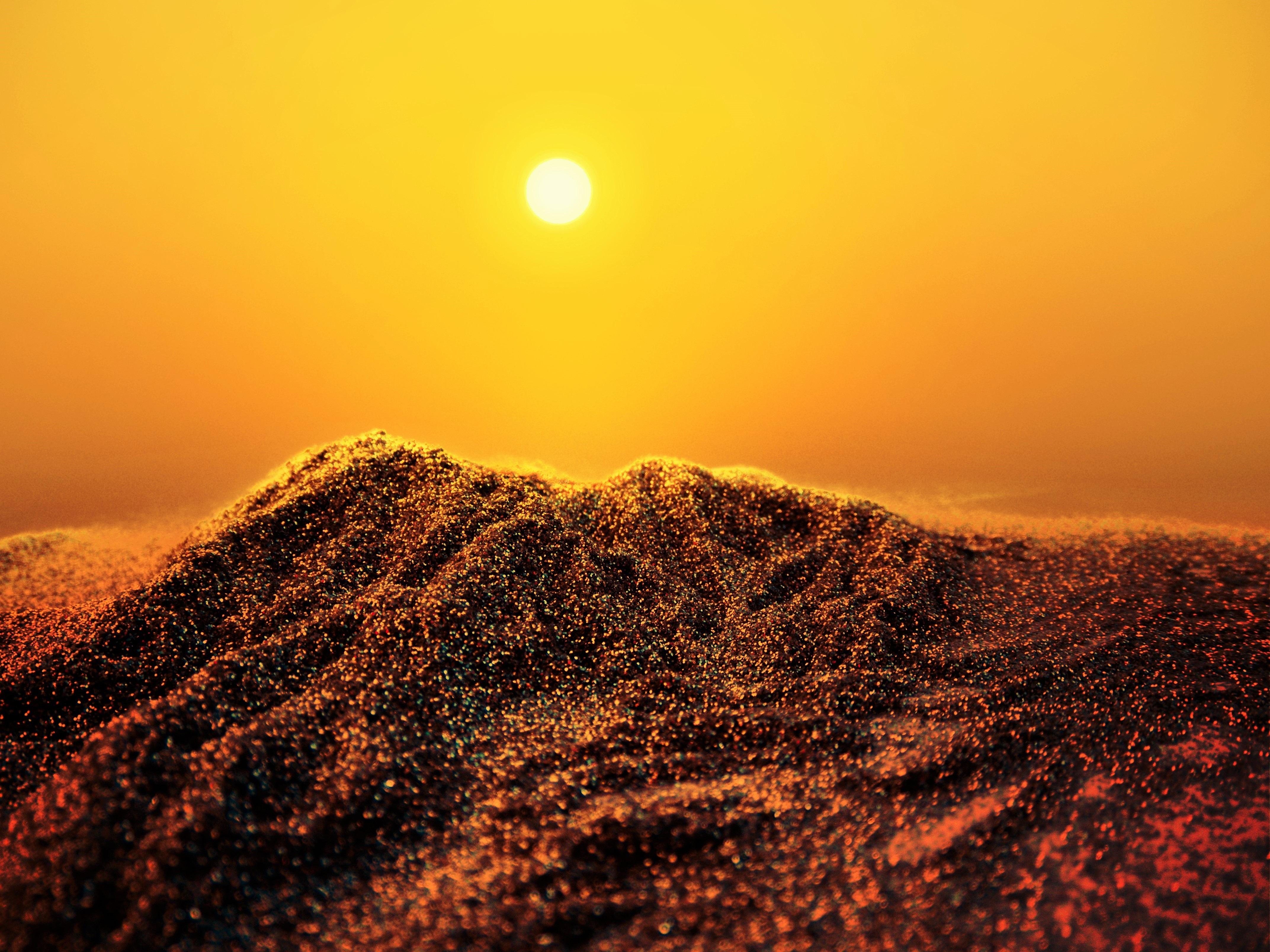 Картинки песок закат