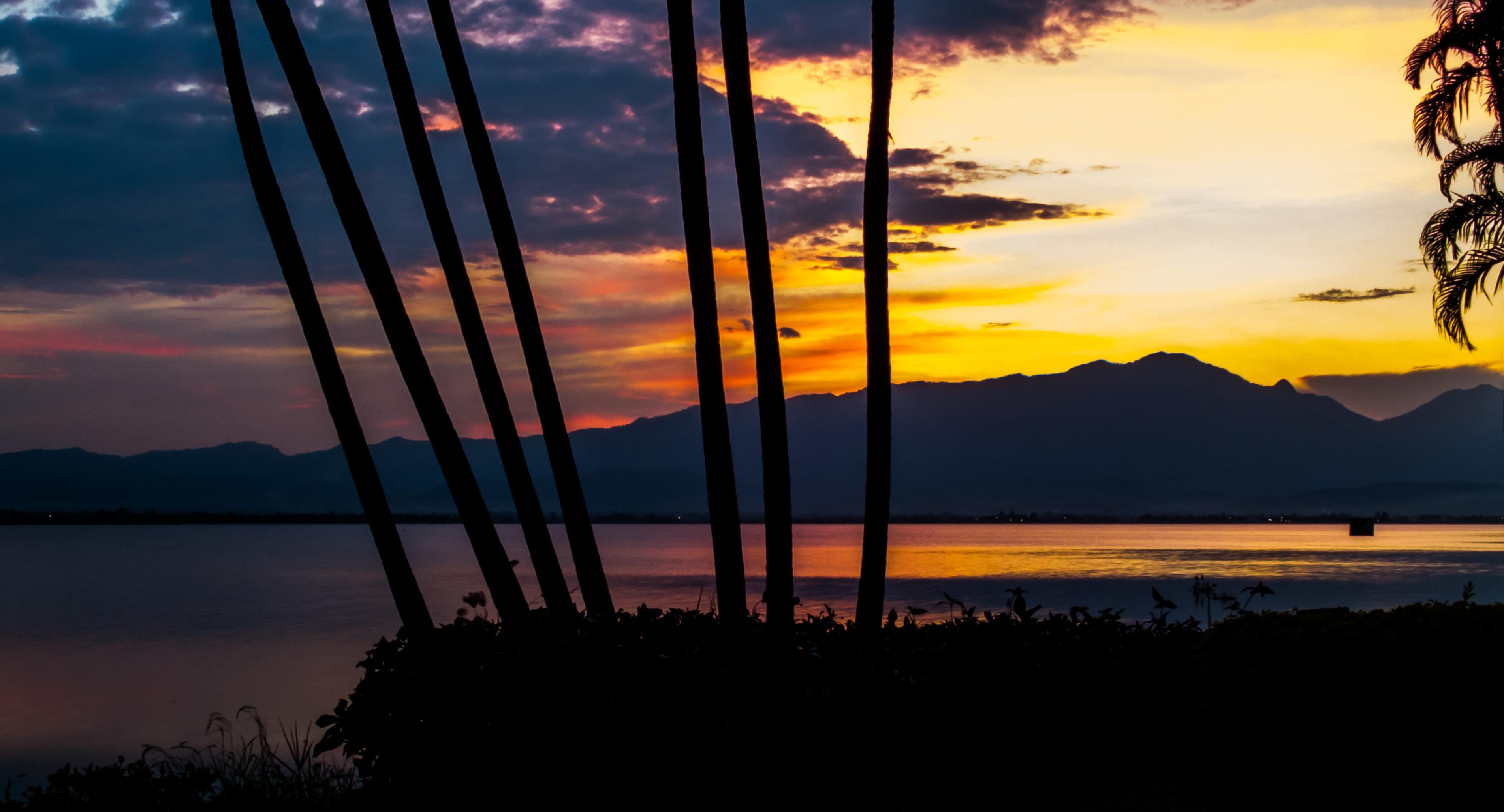 Gambar Air Horison Awan Langit Matahari Terbit Matahari