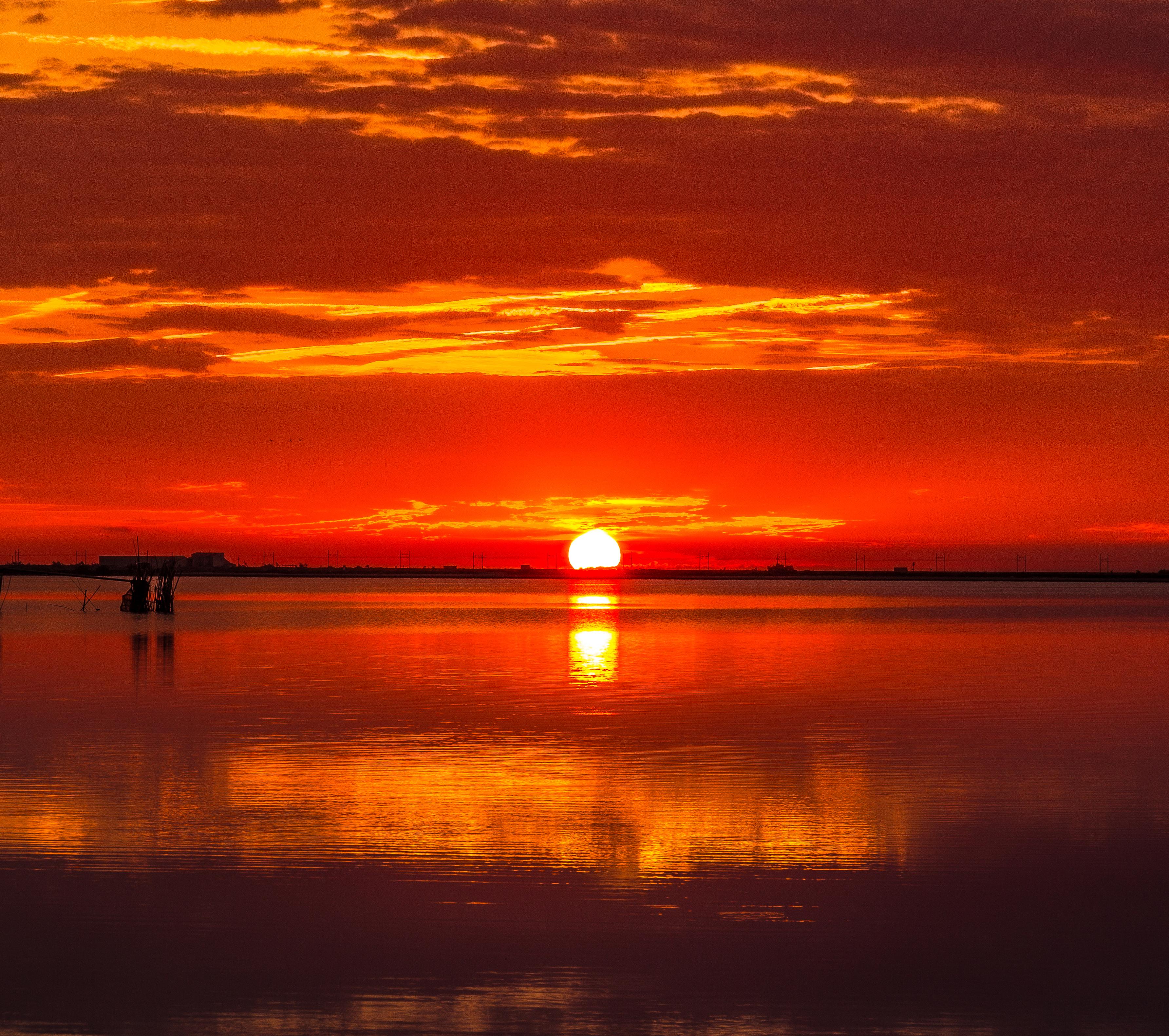 Free Images Sea Water Horizon Silhouette Sun Sunrise Sunset