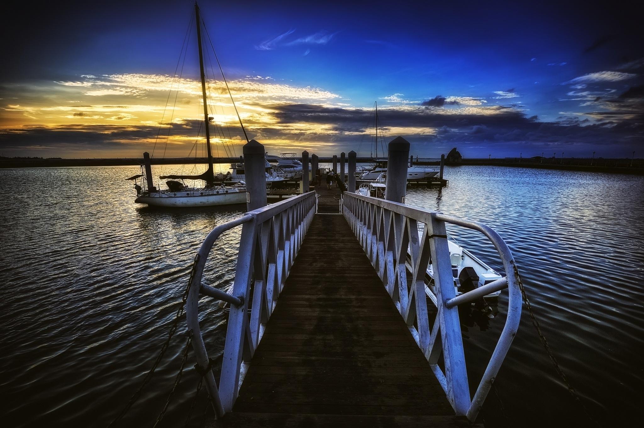 Gambar Laut Air Lautan Horison Dermaga Langit