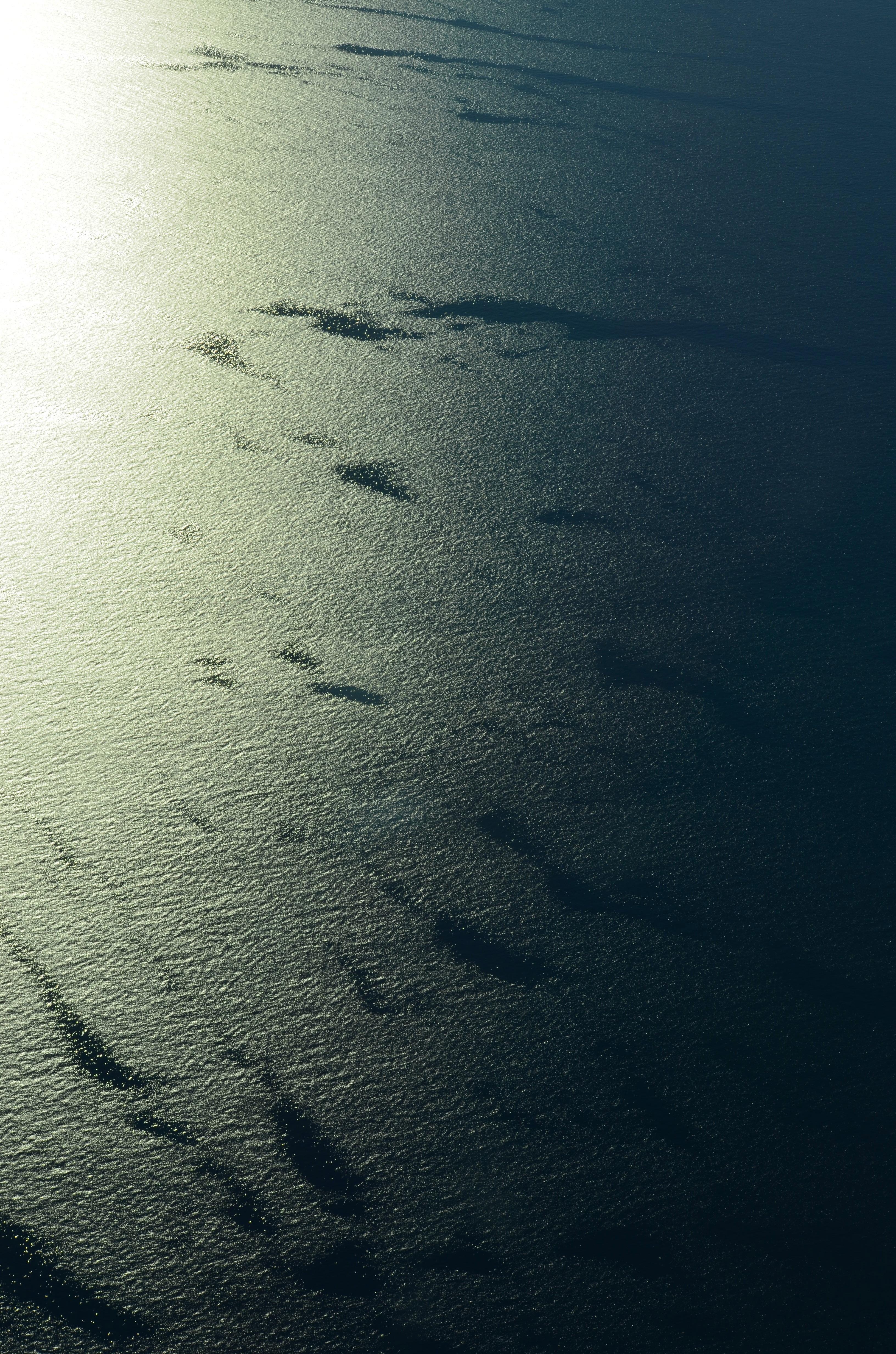 Calm Water Texture free images : sea, water, ocean, horizon, light, cloud, black and