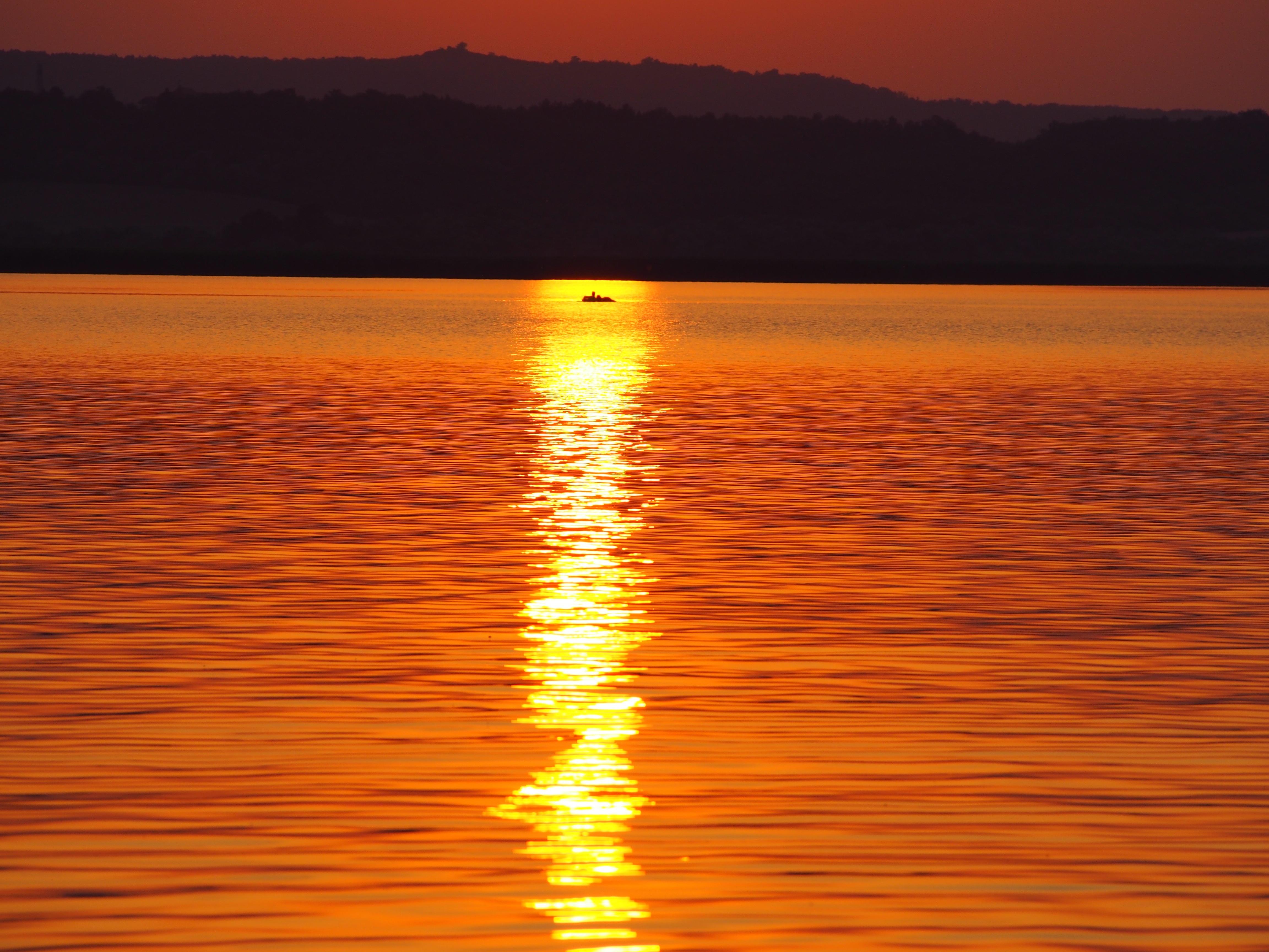 вечера, богемные картинки оранжевое небо оранжевое море разделать филе, порезать
