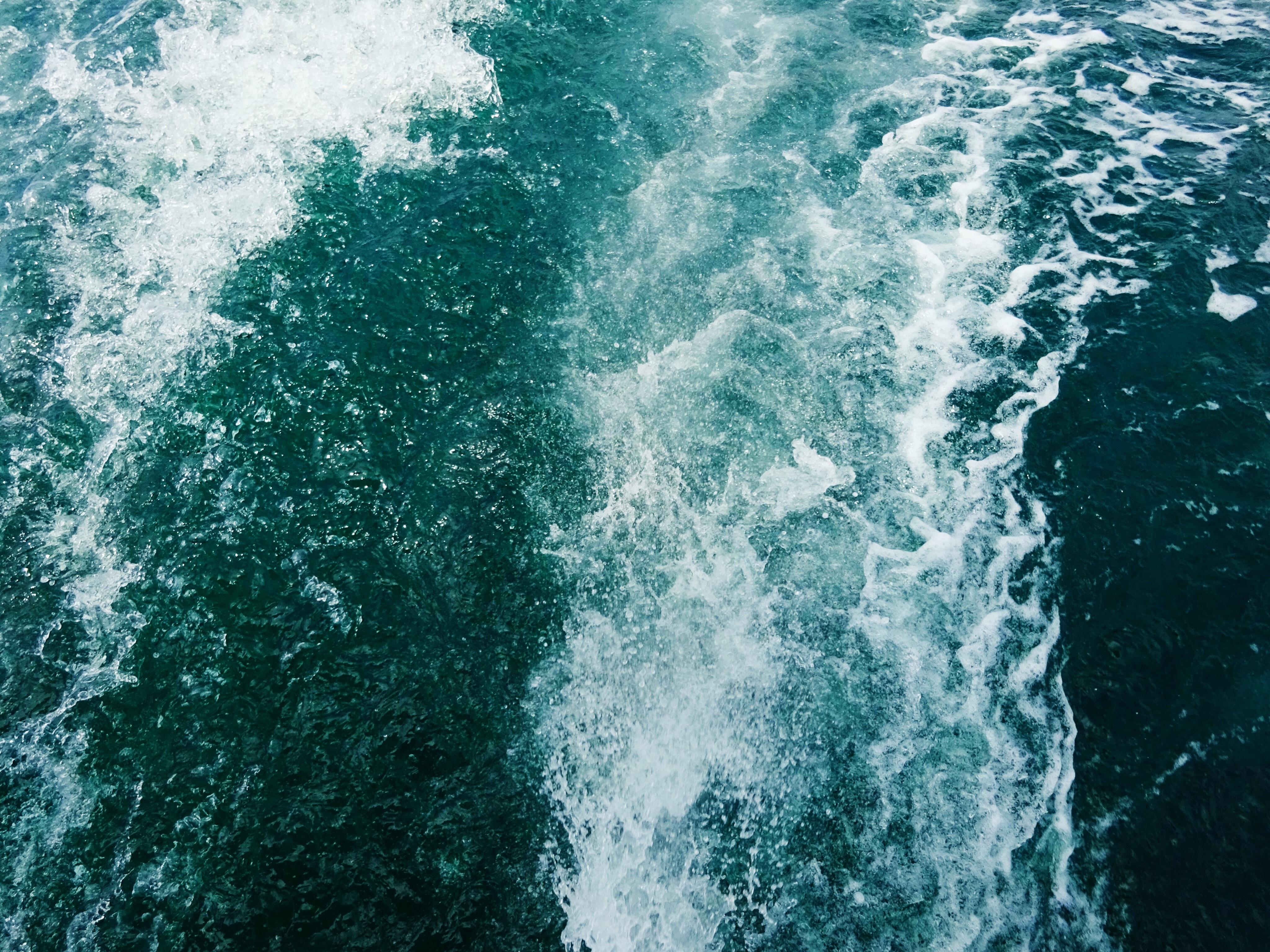 Gambar laut lautan gelombang bawah air mengalir