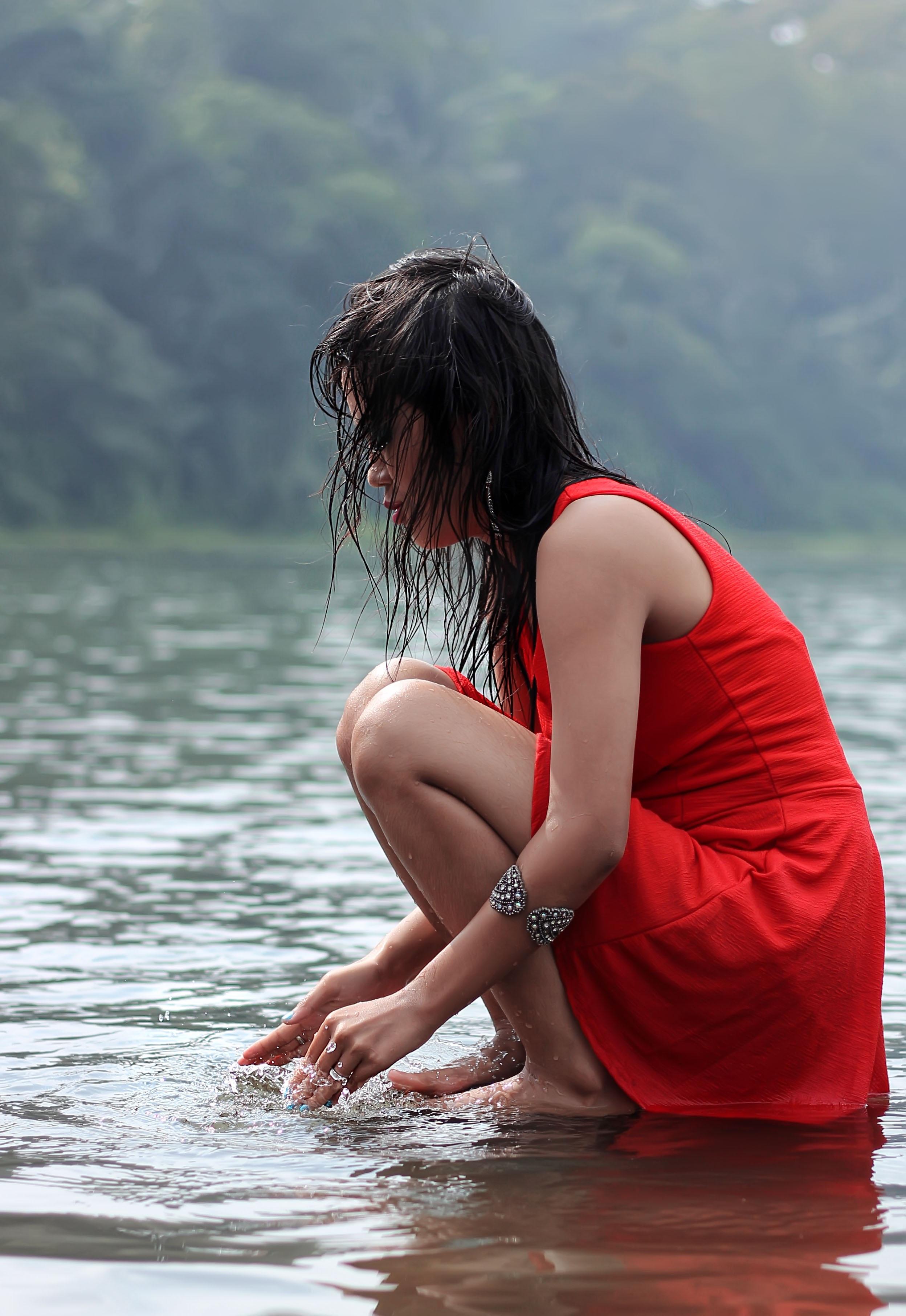 Free Images  Sea, Water, Person, Girl, Woman, Hair, Lake -7588