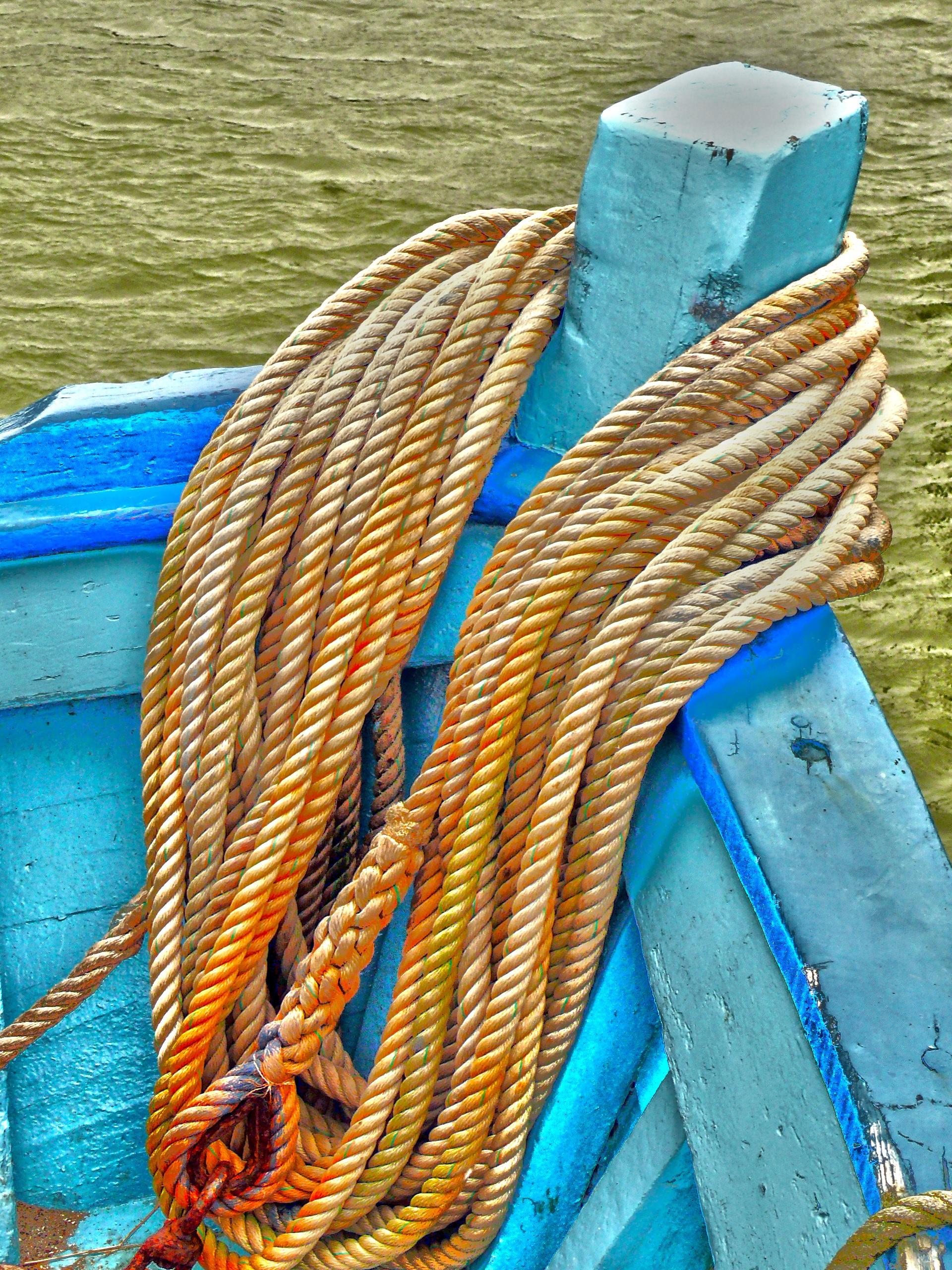 Maritime Bilder bildet hav vann tau tre båt skip fisker farge blå havn