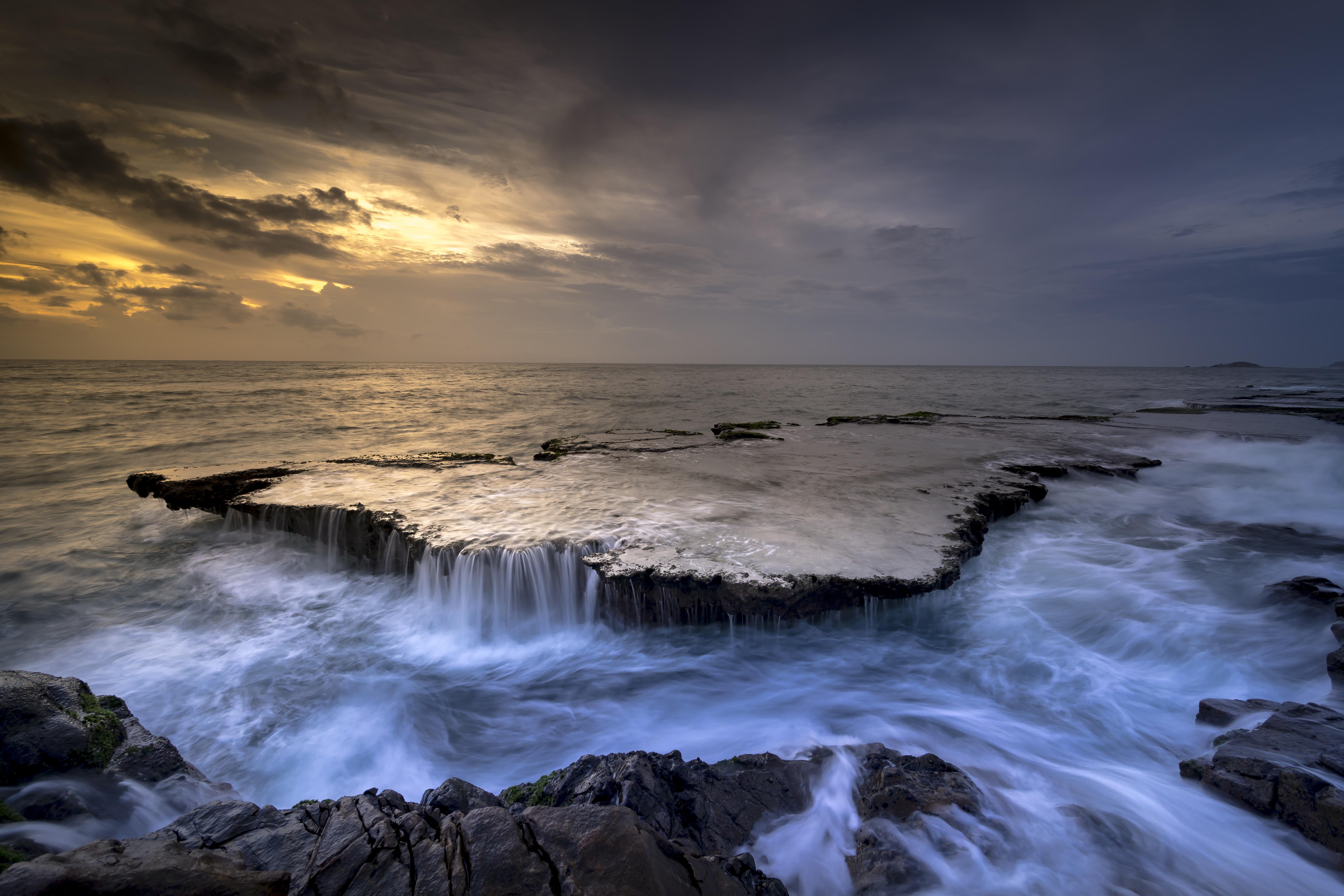 images gratuites mer cascade oc233an vagues soleil