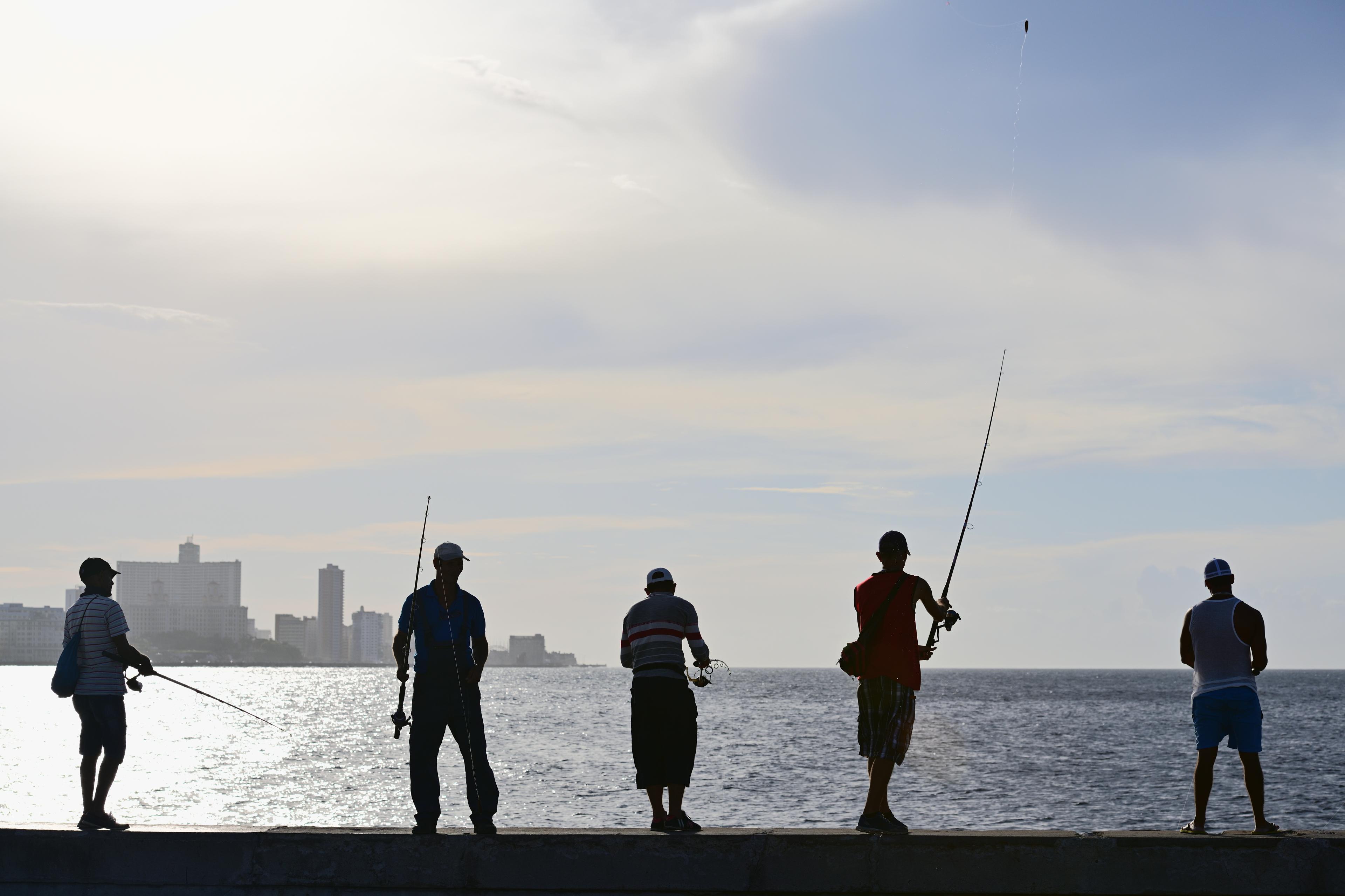 Gambar Tembok Laut Penangkapan Ikan Sketsa Tongkat