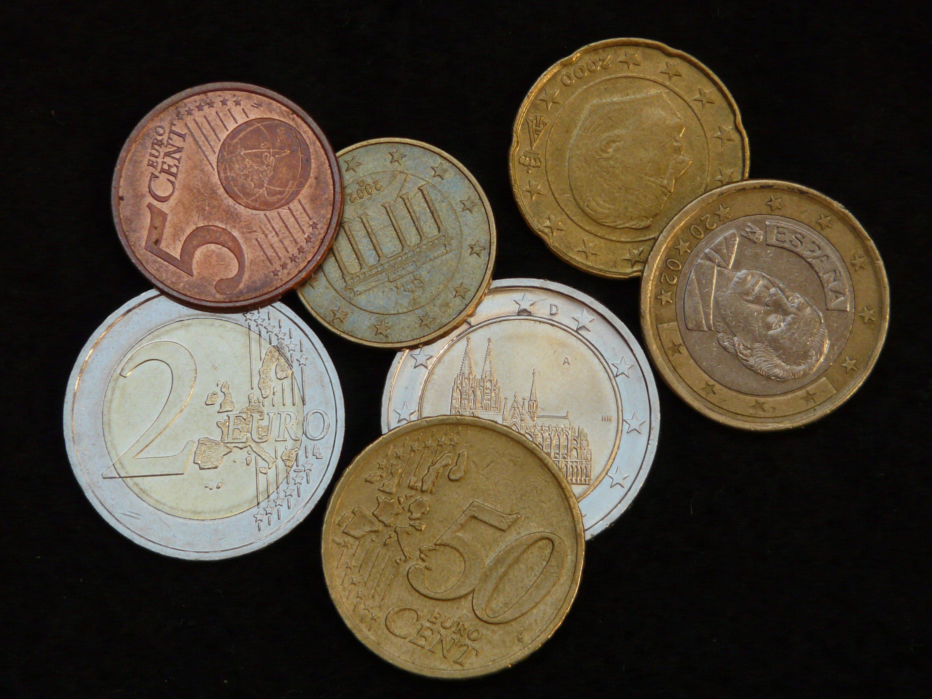Kostenlose Foto Scheinen Metall Geld Kasse Währung Euro
