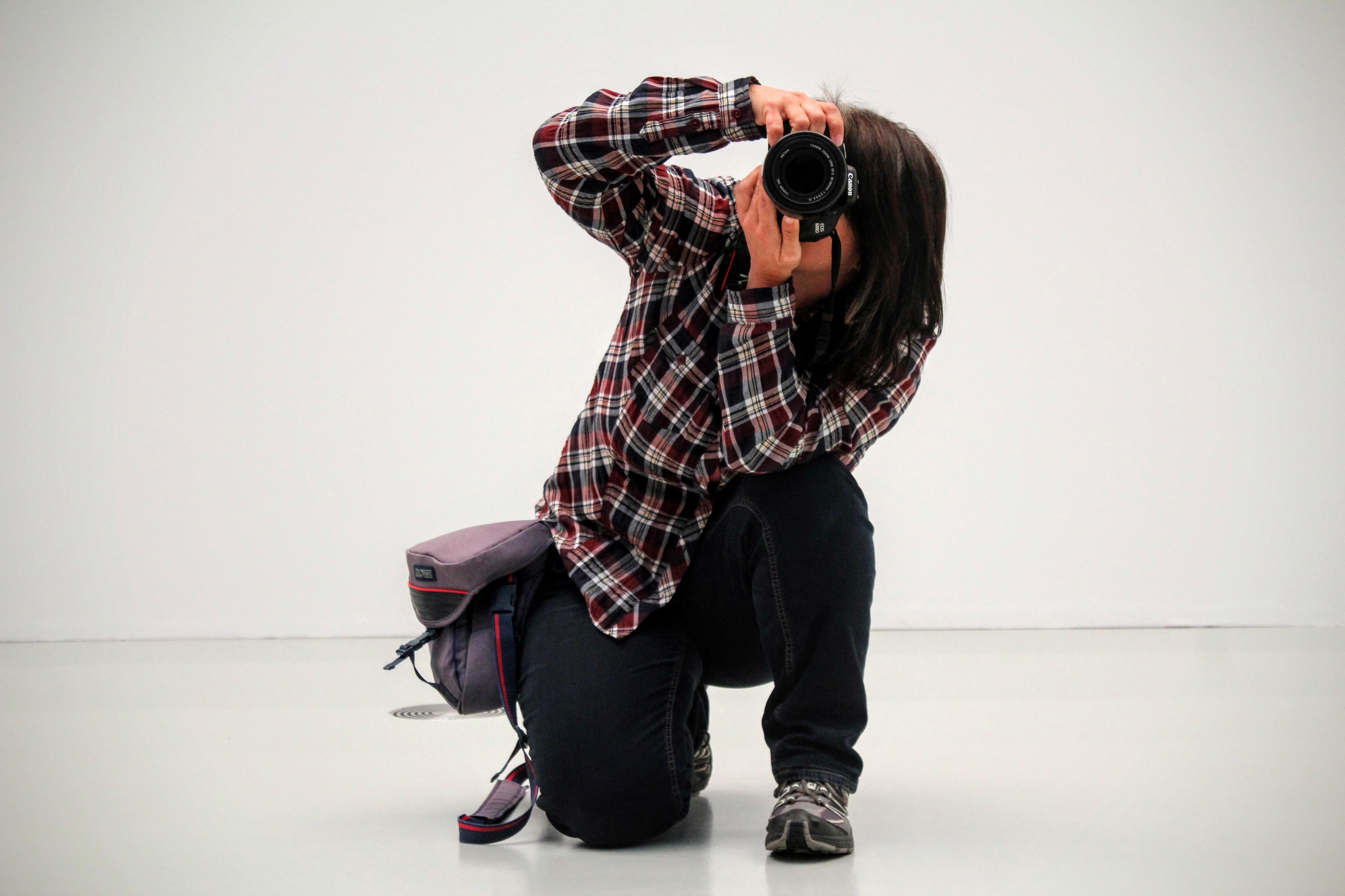 zapato cámara fotografía fotógrafo hembra baile patrón modelo primavera  rojo lente Moda ropa negro vestir diseño cf919538237