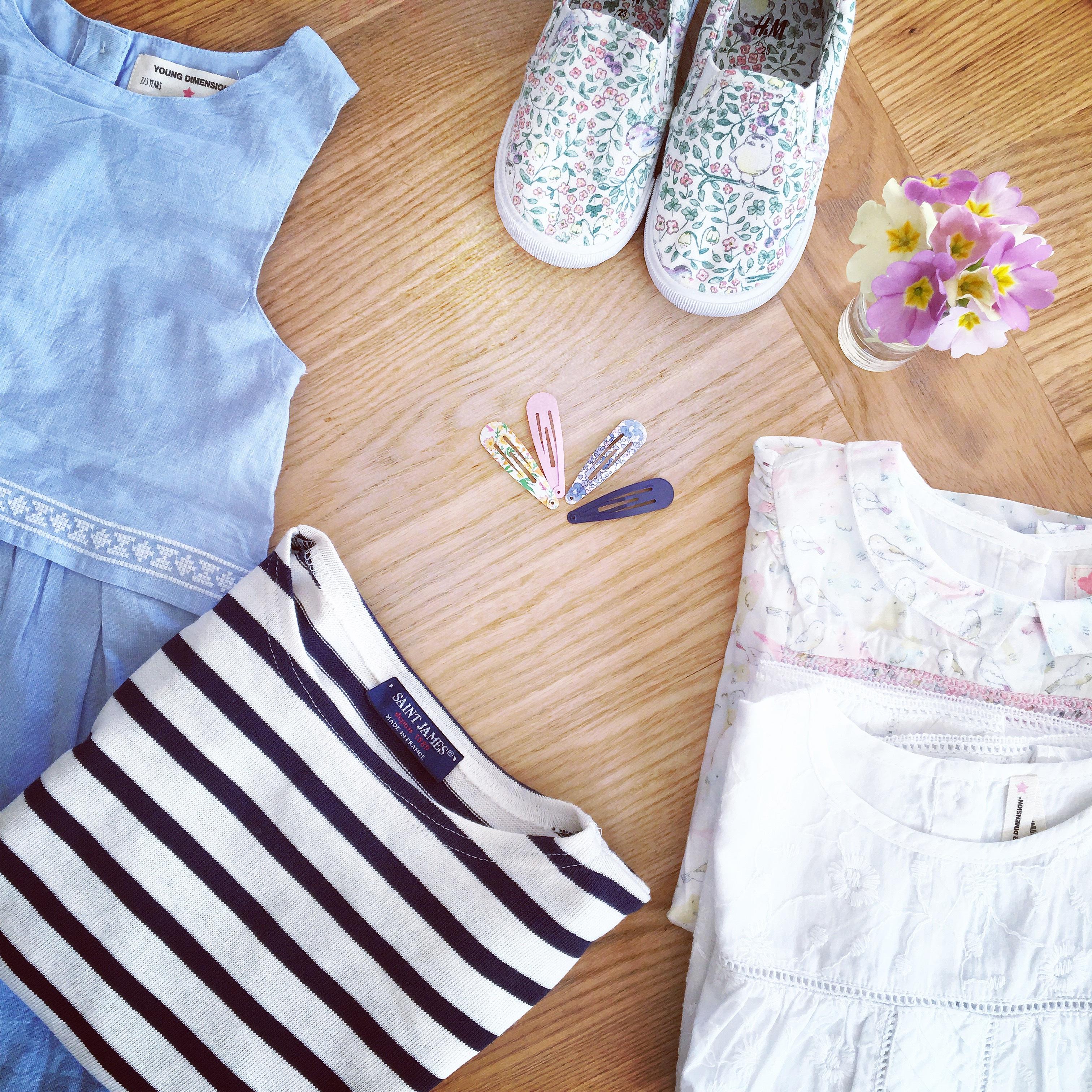 sepatu pola musim semi pakaian bunga bunga produk tekstil gadis gaun celana pendek lemari pakaian