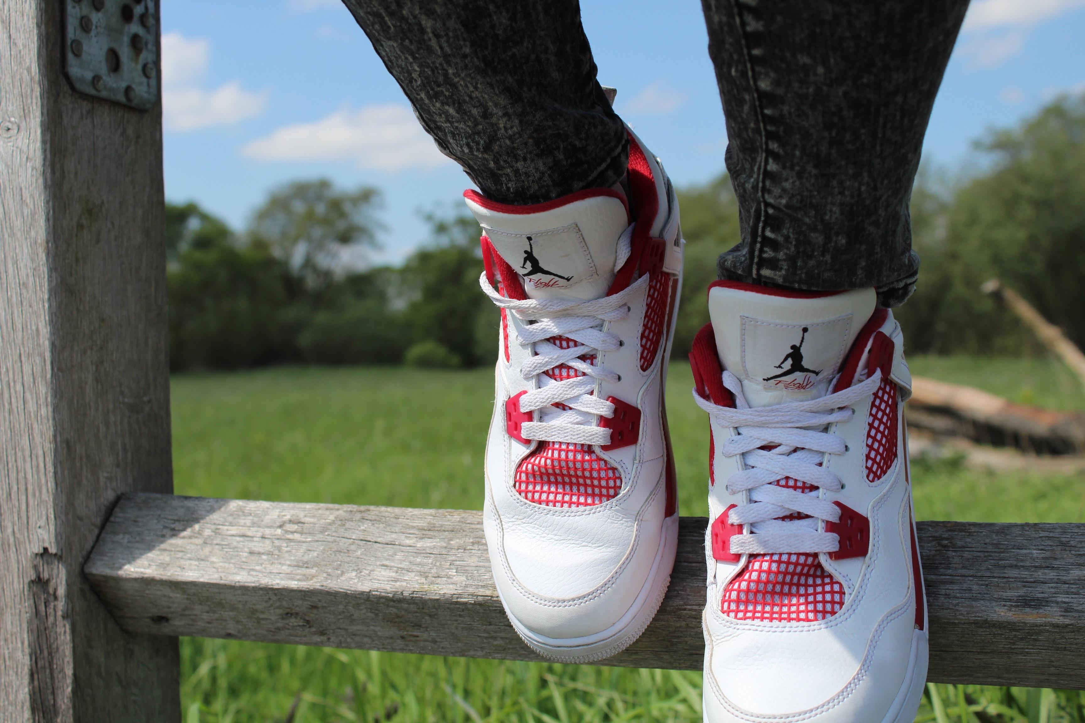 Giày trắng Giày chơi quần vợt Mùa xuân Đỏ Chạy giày Dây giày nghệ thuật giày