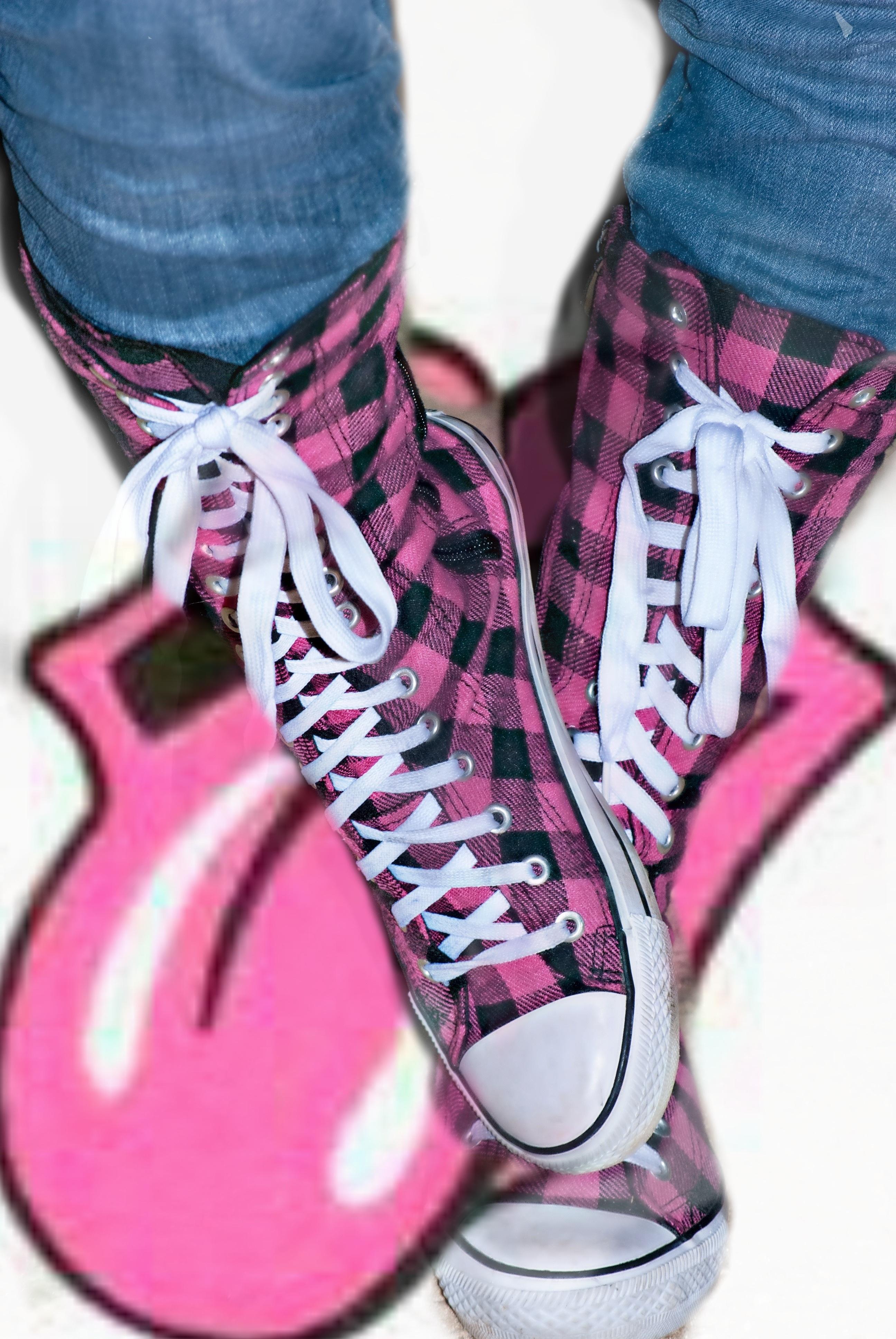 Kostenlose foto : Schuh, Frau, lila, Bein, Muster, Frühling