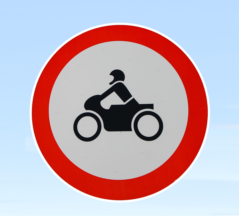 Gambar Sepeda Motor Papan Tanda Jalan Lingkaran Rambu