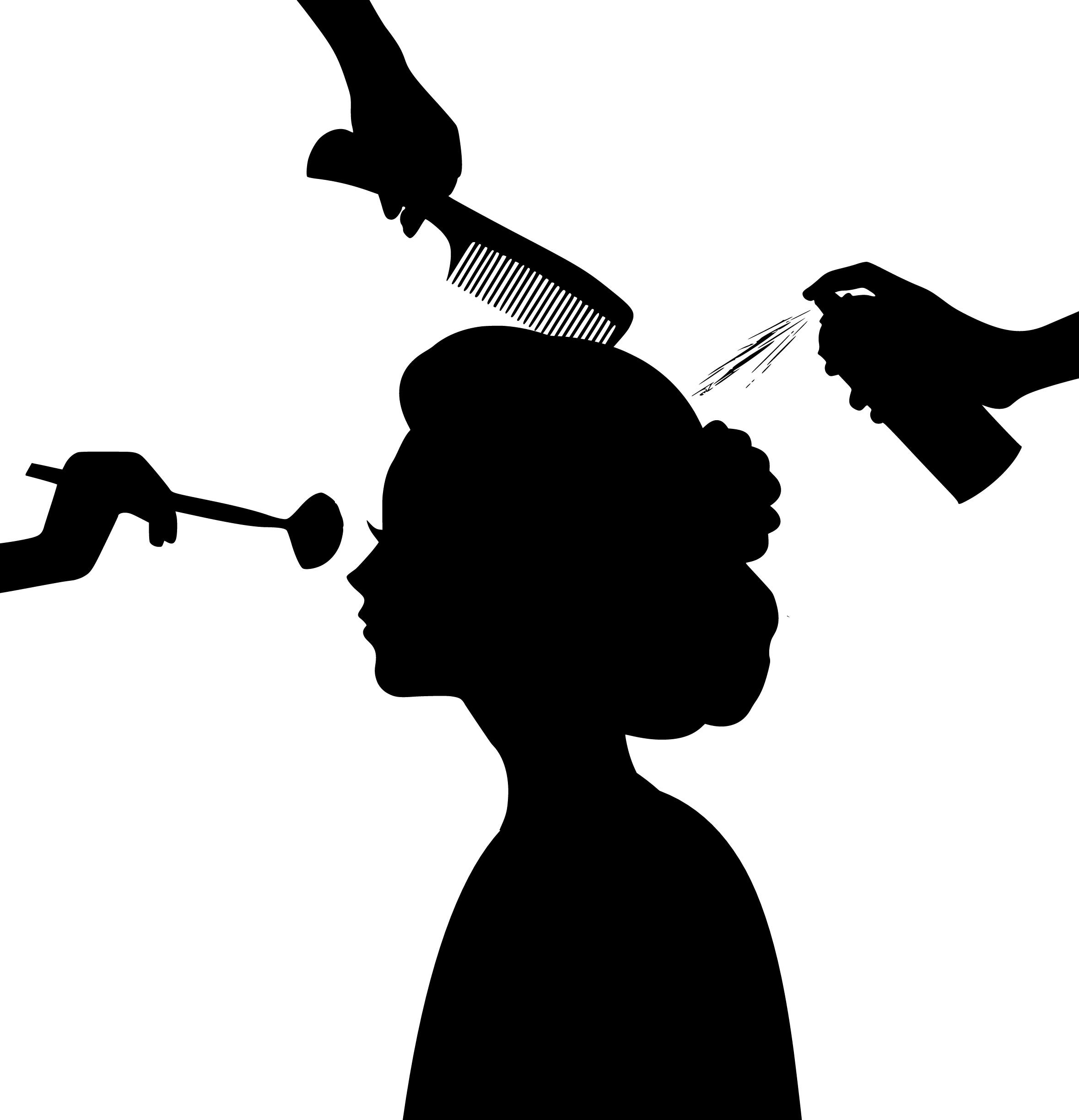 Poze Siluetă Frumuseţe Salon Coafor Coafat Par Spa Produse