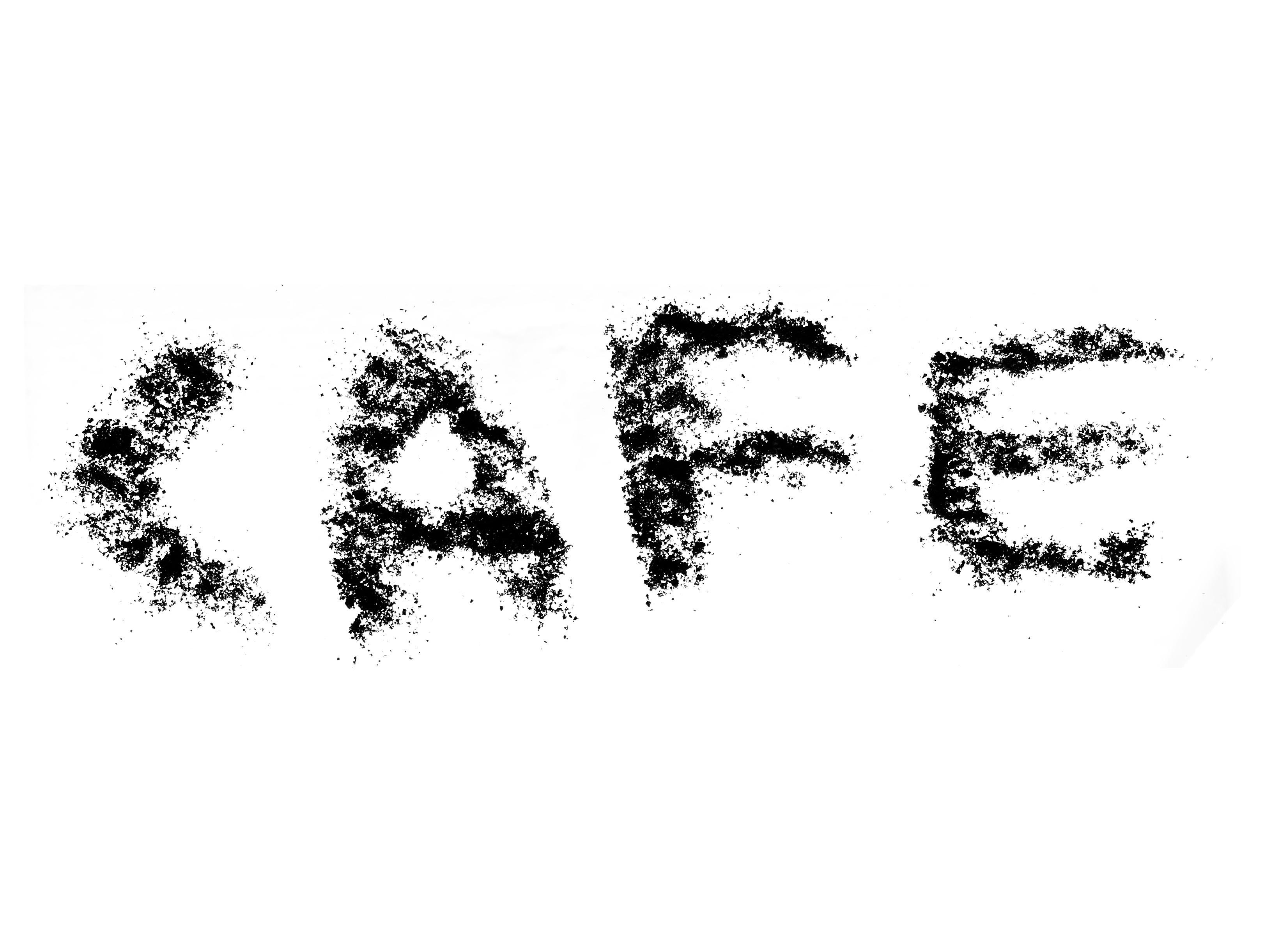 Gambar Bayangan Hitam Kafe Kopi Terpencil Fon Sketsa