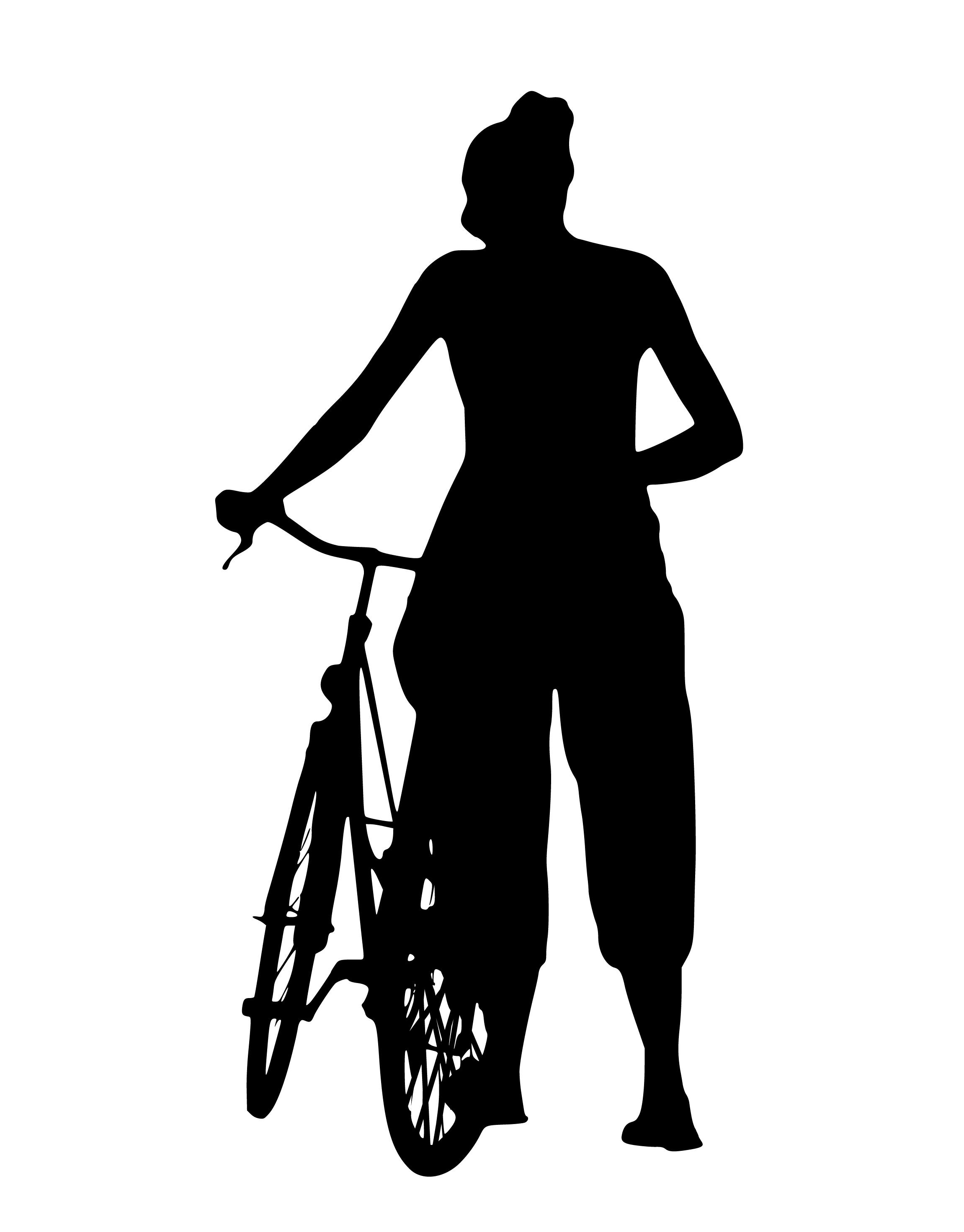 Fotos Gratis Silueta Niña Ciclismo Para Caminar Mujer Espalda
