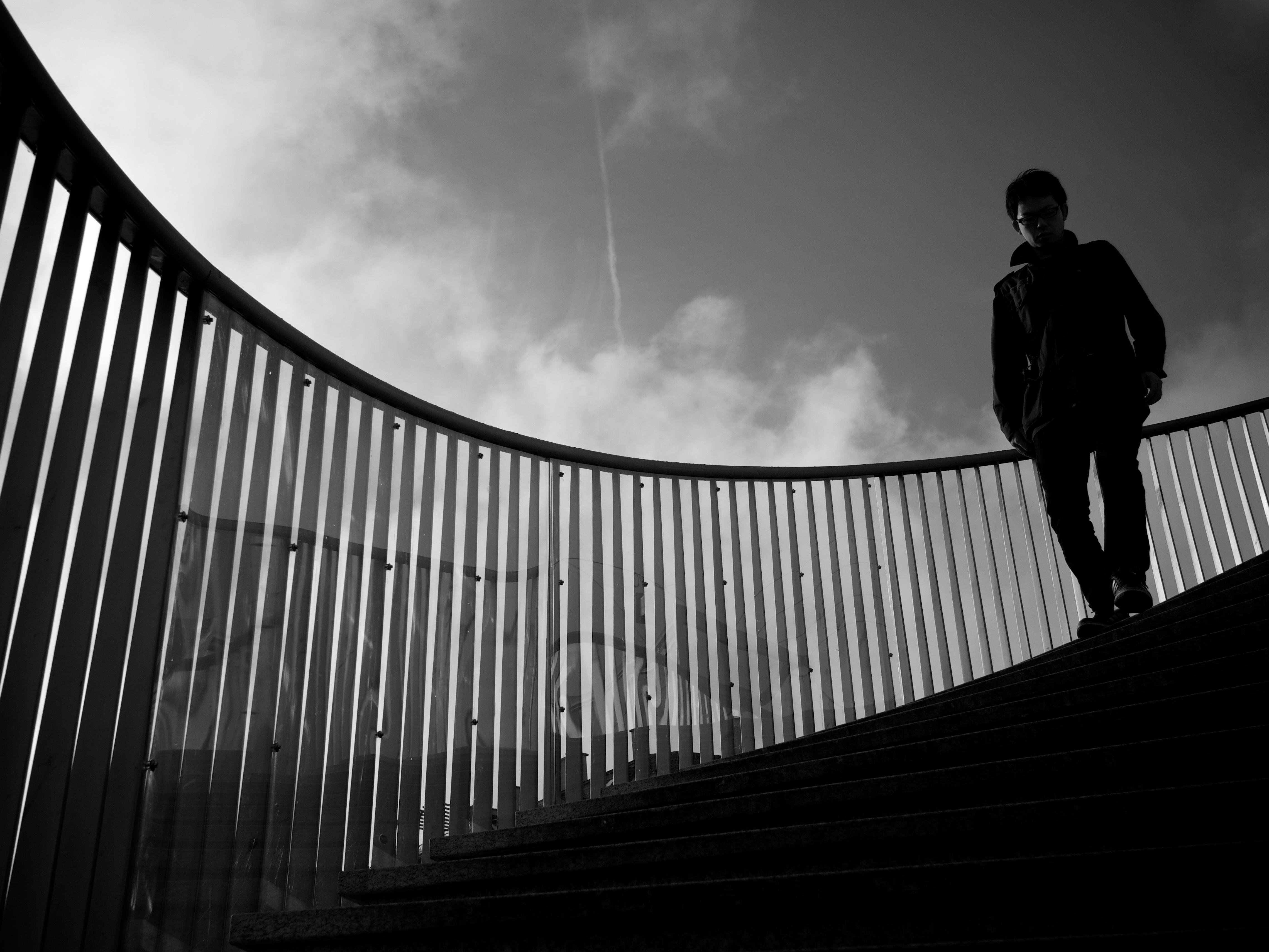 силуэт на лестнице в небо фото столько, что