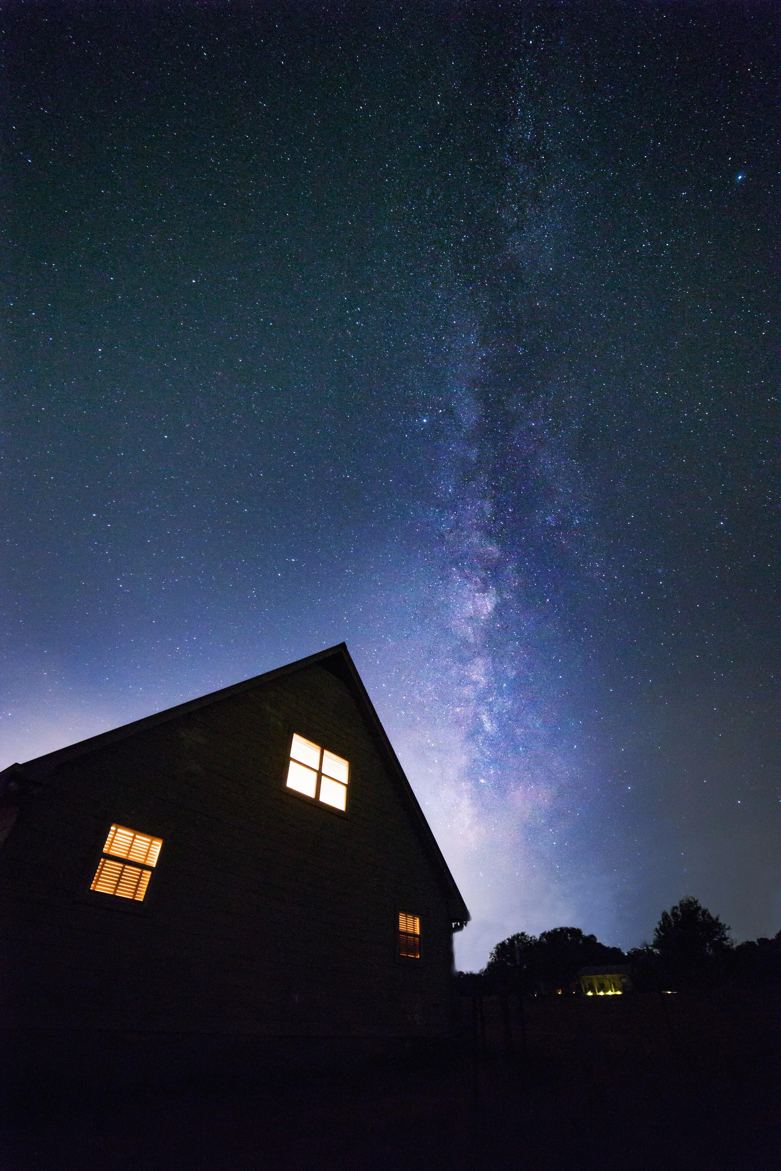 Silhouette Light Sky Night