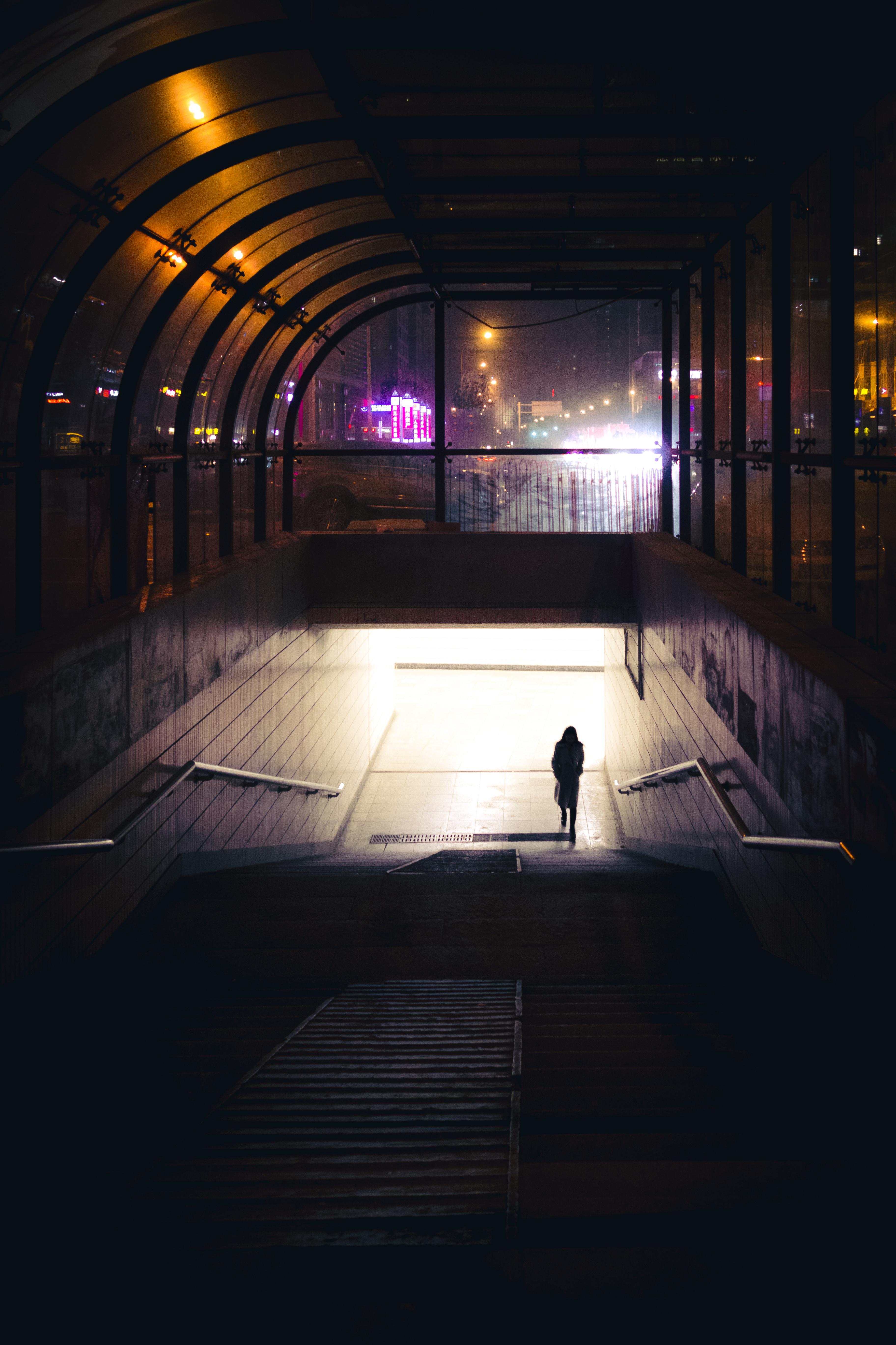Free Images  silhouette light street night camera photography city urban underground chinese reflection human darkness lighting world ... & Free Images : silhouette light street night camera photography ...