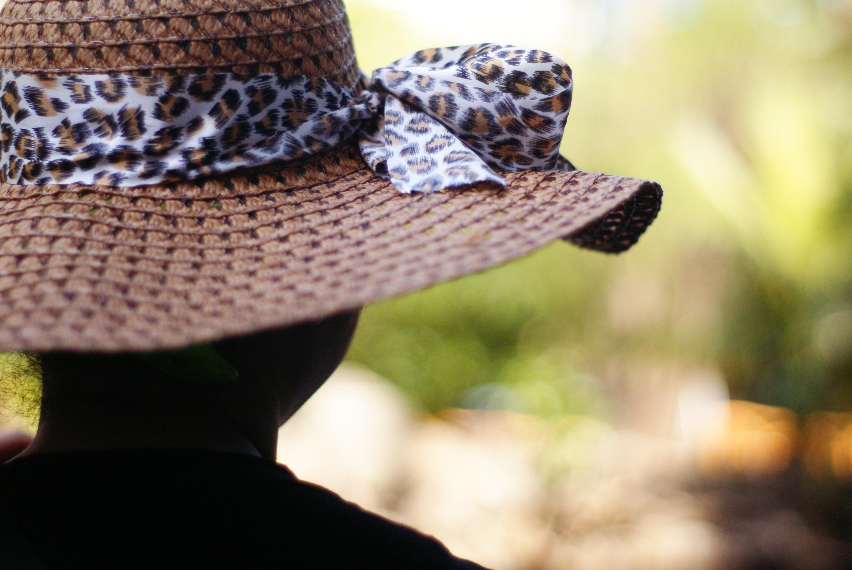 256fd4c993be9 silueta mujer patrón sombrero ropa agricultura cinta Casco leopardo sombrero  para el sol superficial espalda gorra