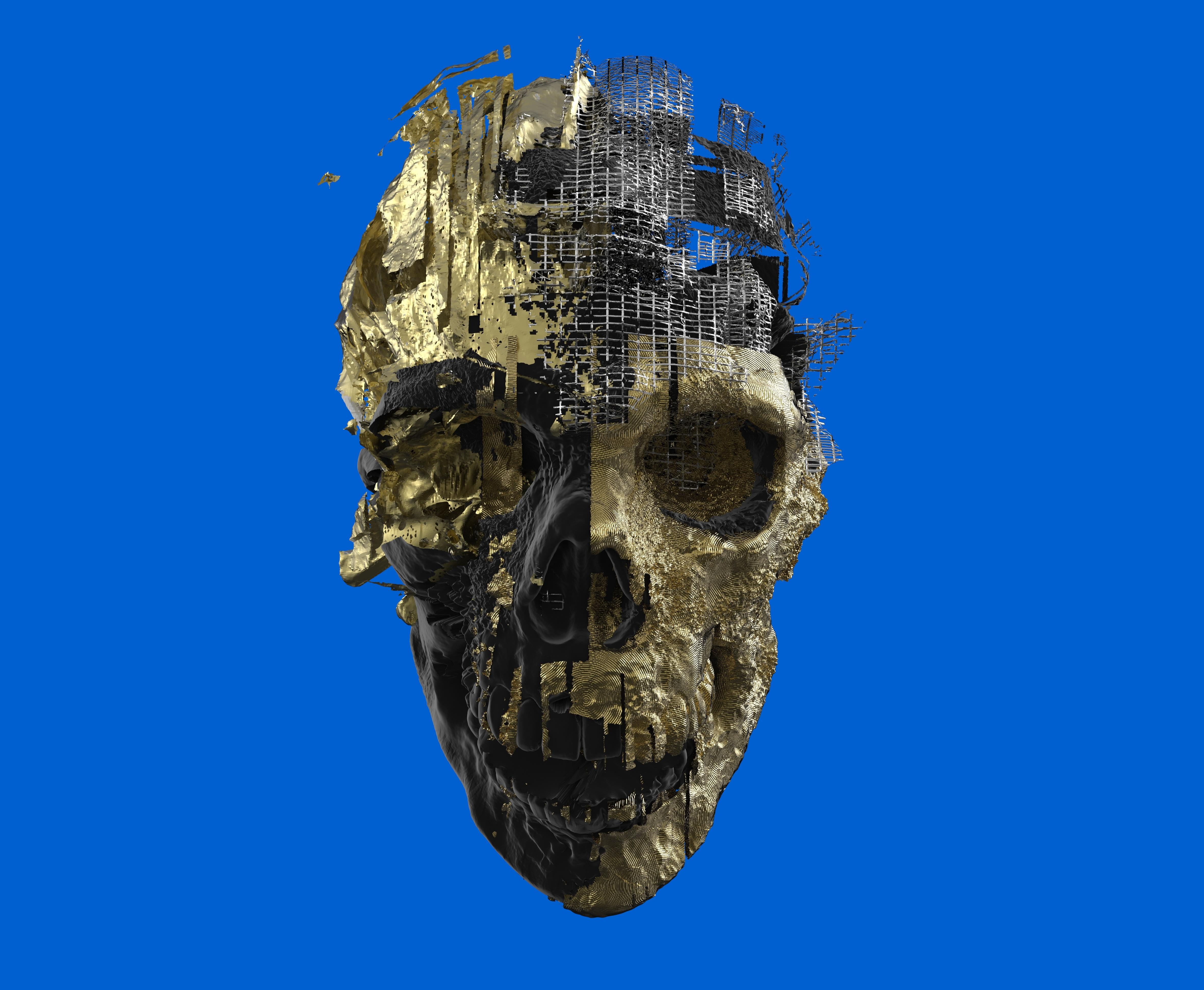 Fotos gratis : cráneo, escultura, art, ilustración, cabeza, 3d ...
