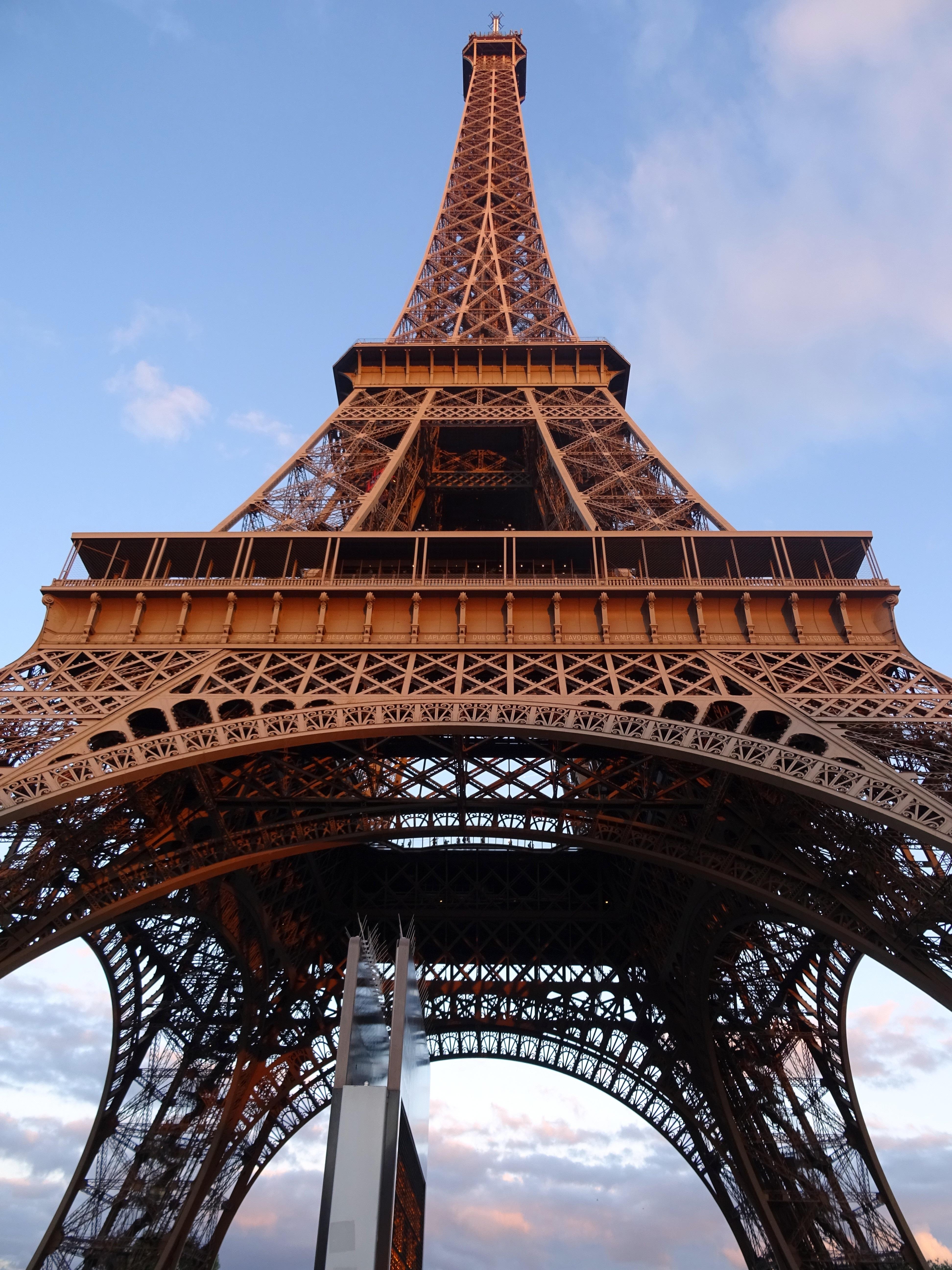 Sky Eiffel Tower Paris France Europe Landmark Tourism Temple Famous Chinese Architecture Pagoda Ancient