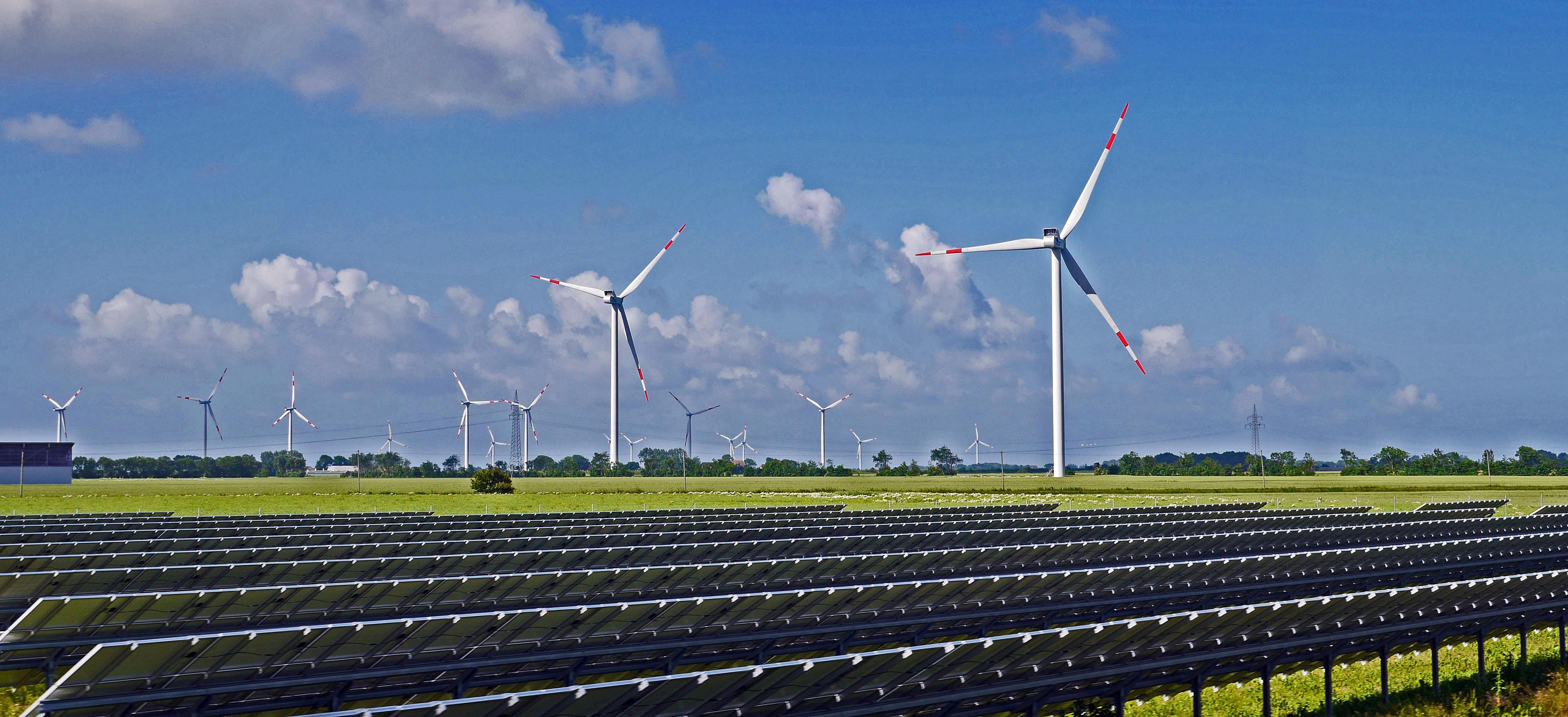 Free sky field environment feed machine blue wind