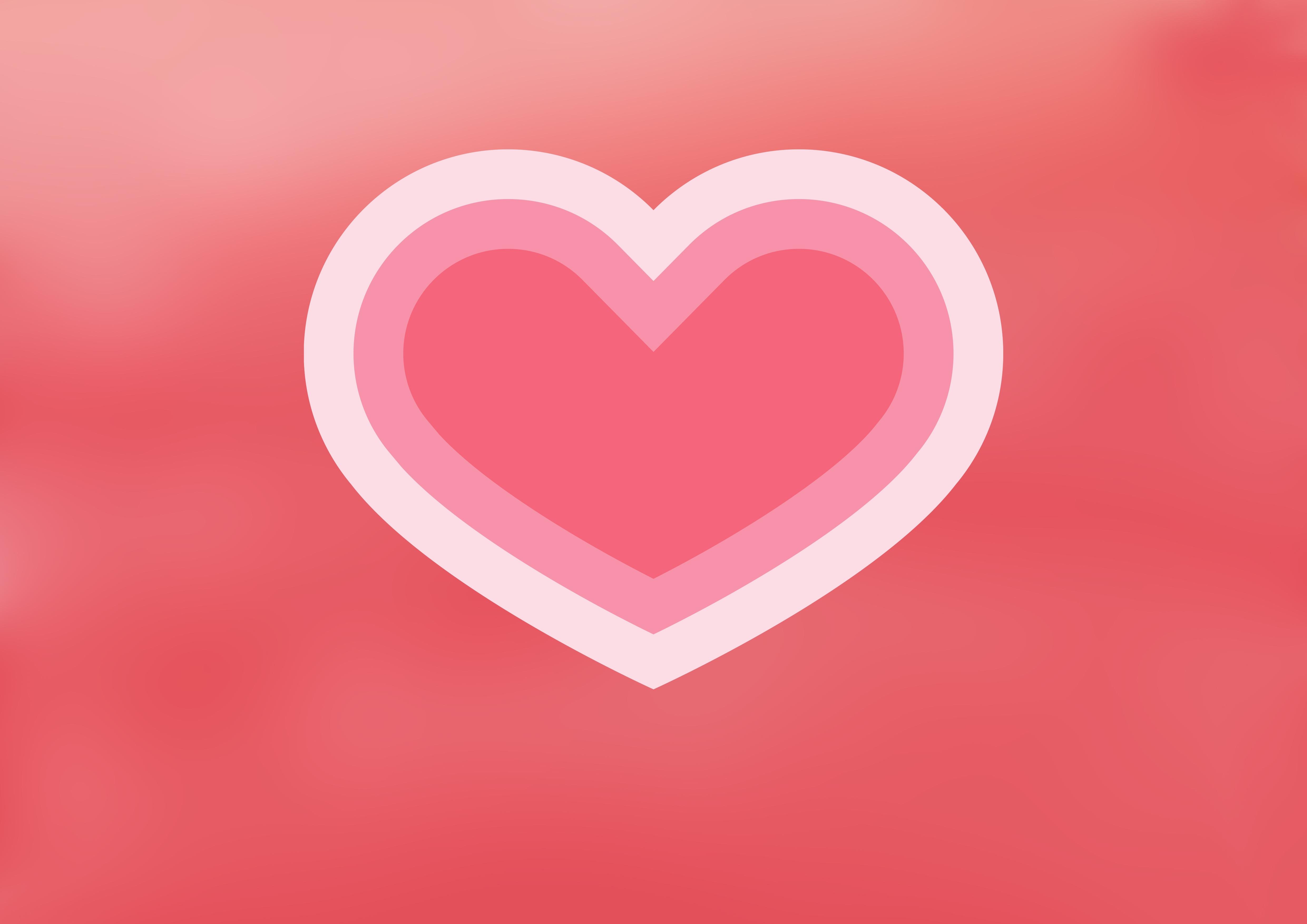 Gambar Langit Jantung Percintaan Romantis Berwarna