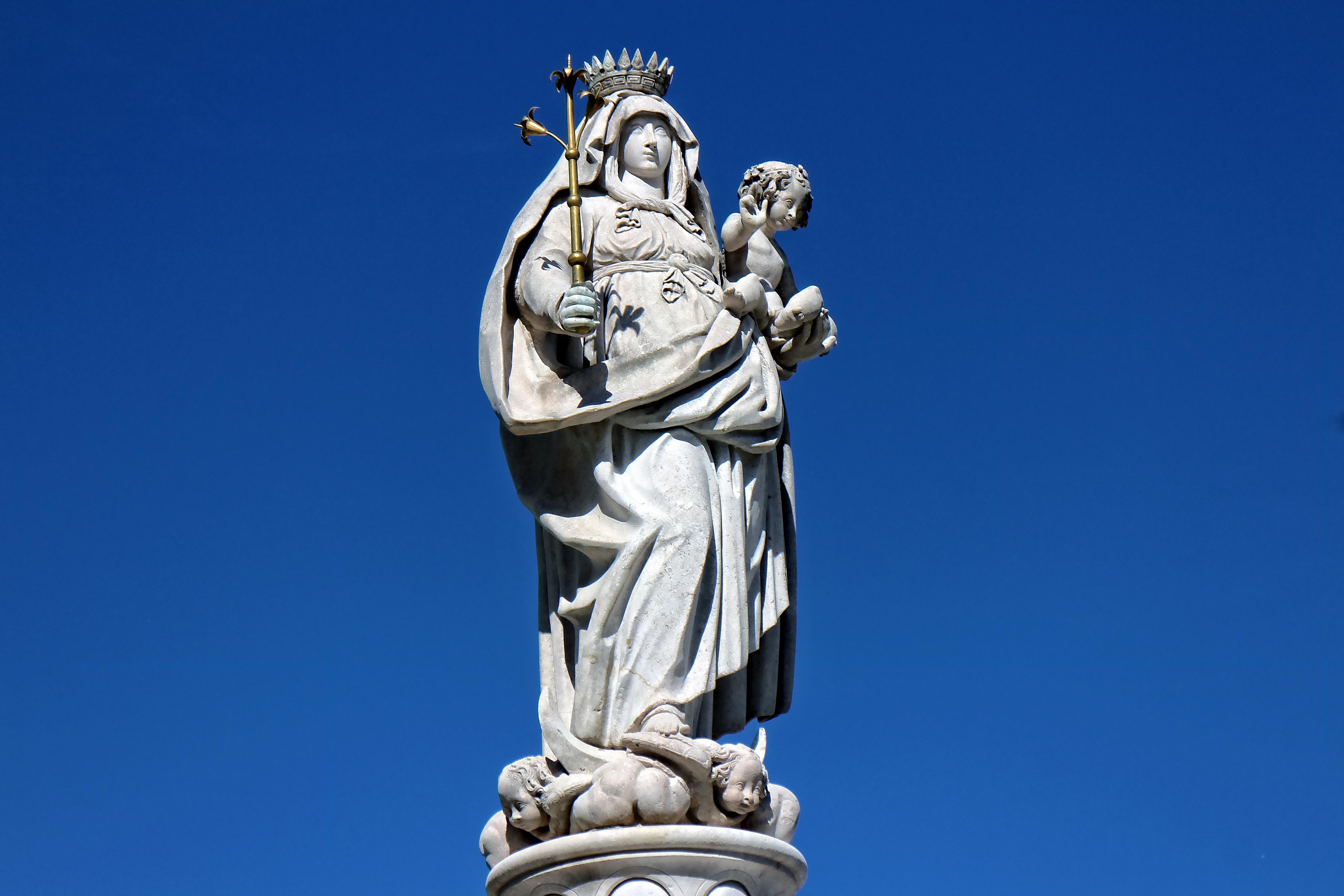 Photography Statue Monument Gothic Religion Sky Skies: Free Images : Sky, Monument, Statue, Religion, Blue